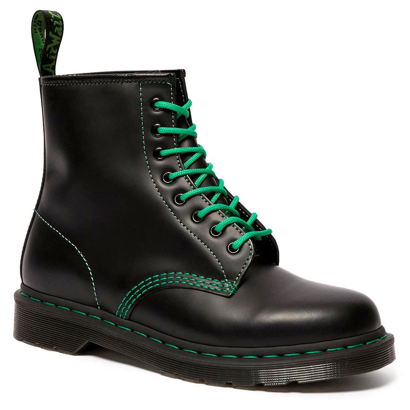 DR MARTENS 1460 GS Smooth Mod Boots (Black/Green)
