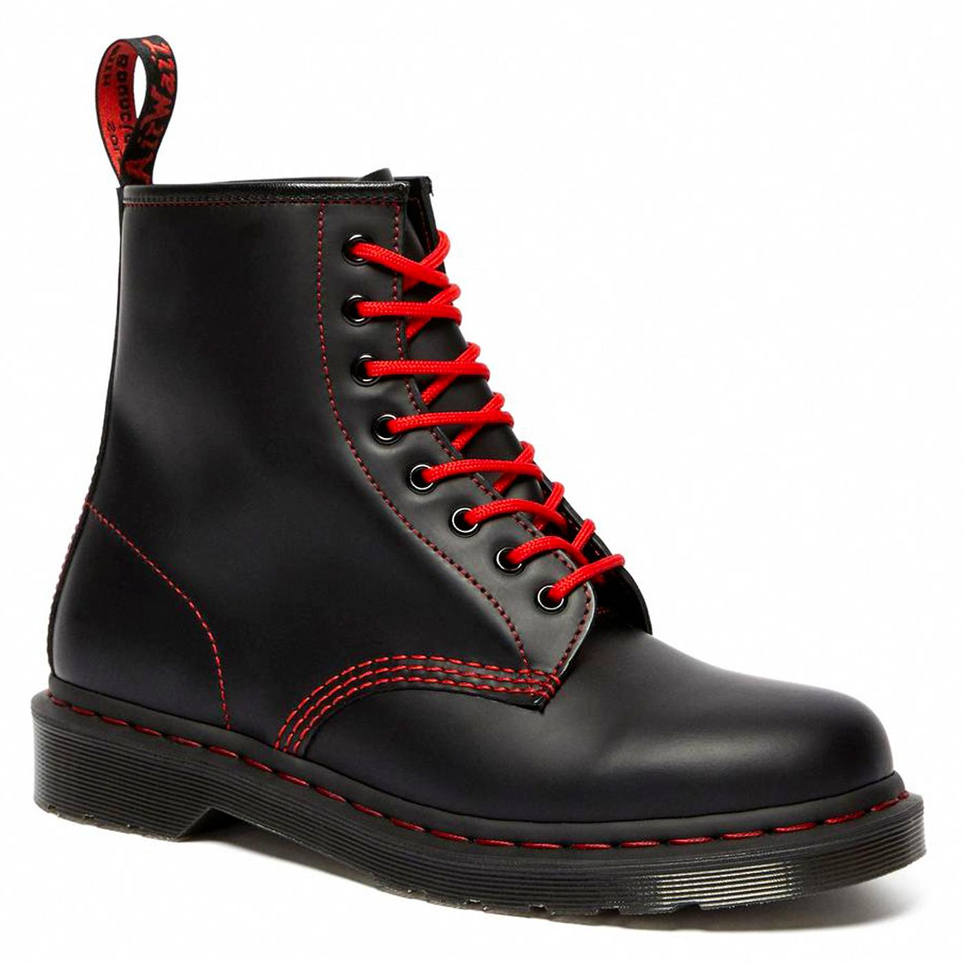 DR MARTENS 1460 RS Smooth Mod Boots (Black/Red)