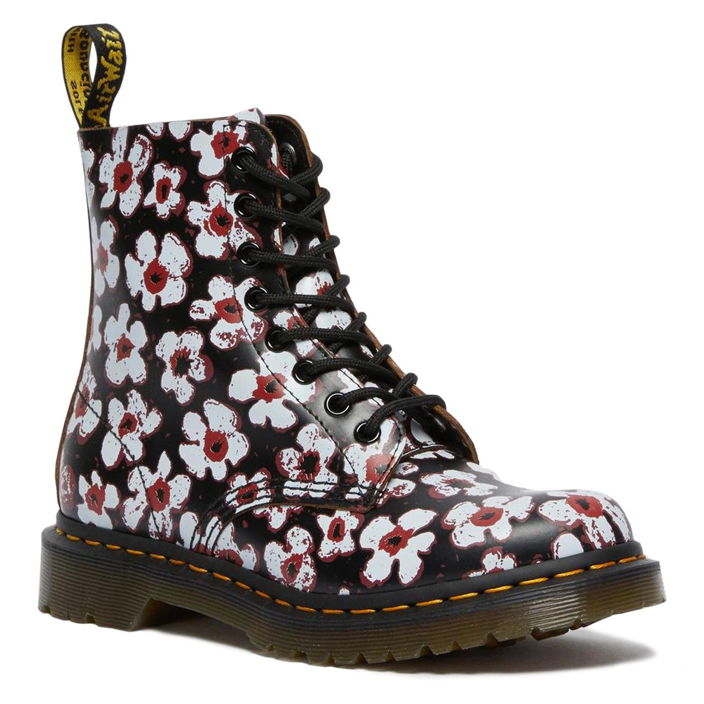 1460 Pascal Floral DR MARTENS Womens Leather Boots