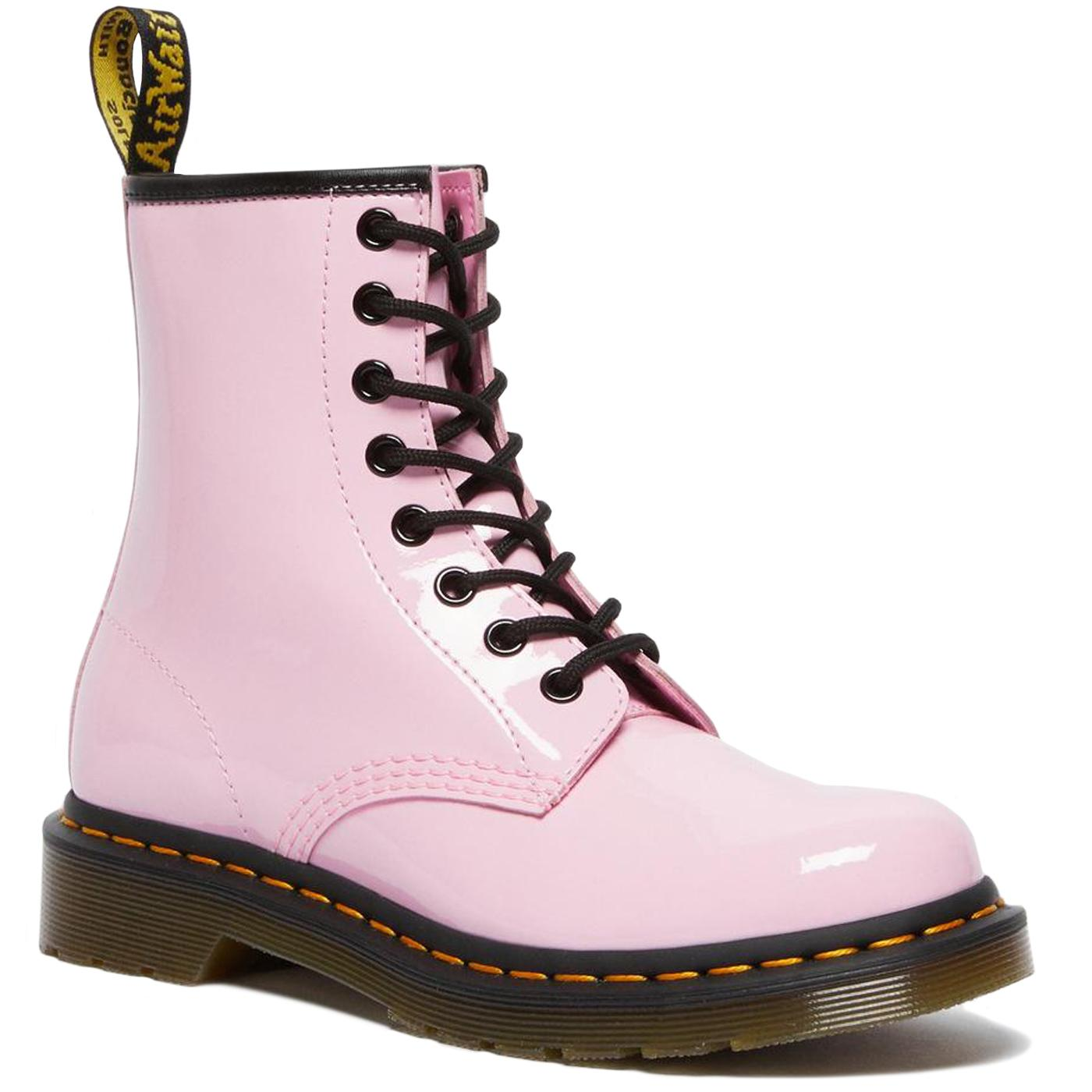 DR MARTENS 1460 Womens Patent Lamper Boots (Pink)
