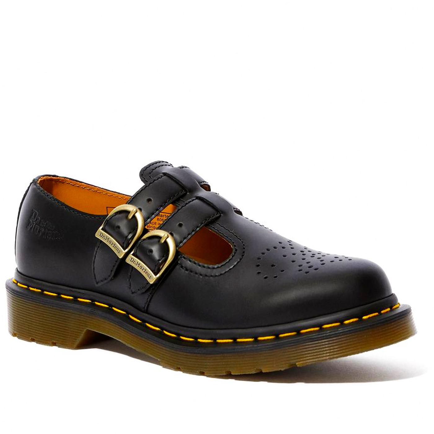 DR MARTENS 8065 Mary Jane 60s Mod Shoes (Black)