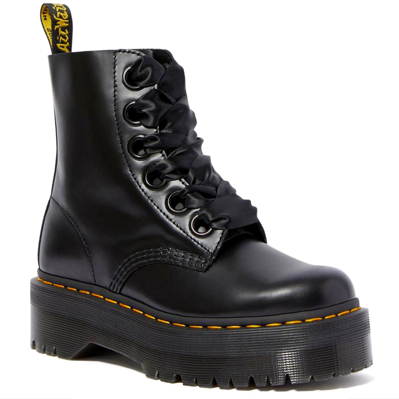 Molly DR MARTENS Women's Platform Leather Boots B