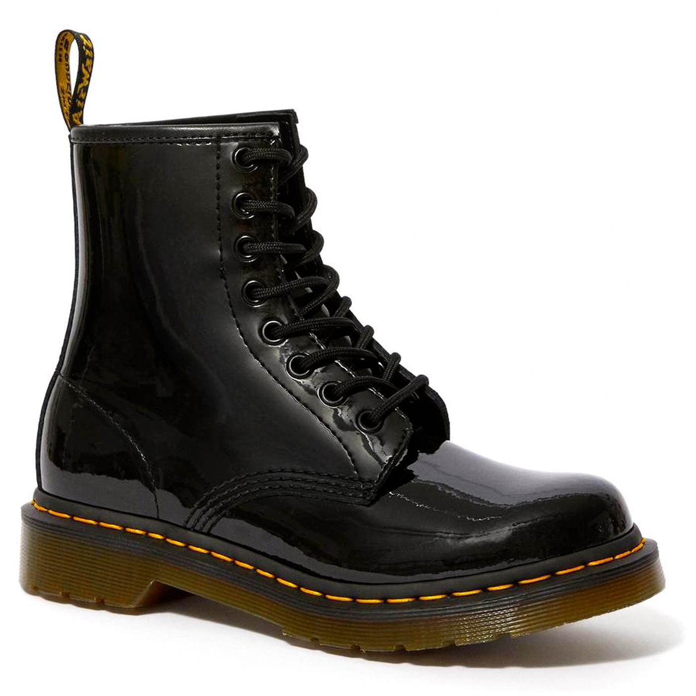 DR MARTENS 1460 Patent Lamper Women's Boots BLACK