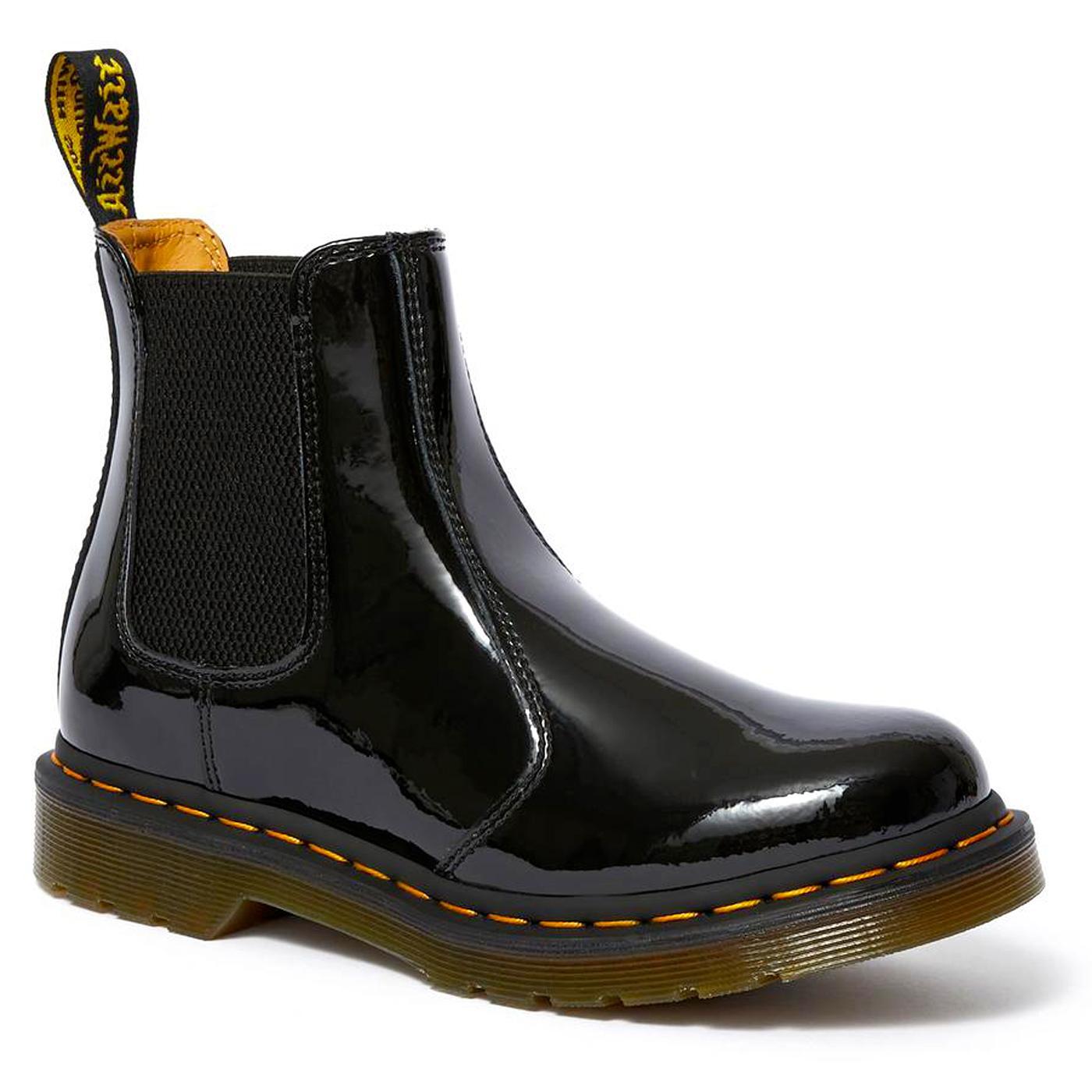 DR MARTENS 2976 Women's Black Patent Chelsea Boots