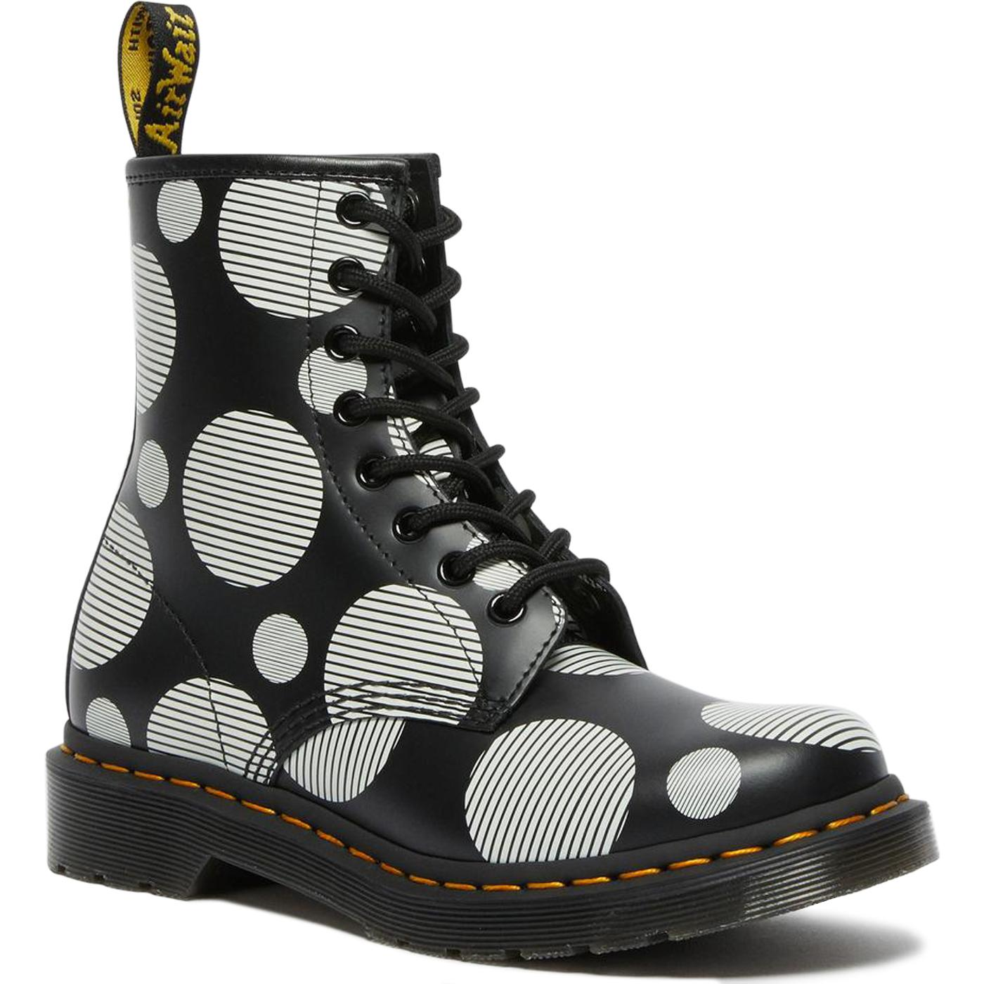 1460 Polka Dot DR MARTENS Womens Retro Ankle Boots