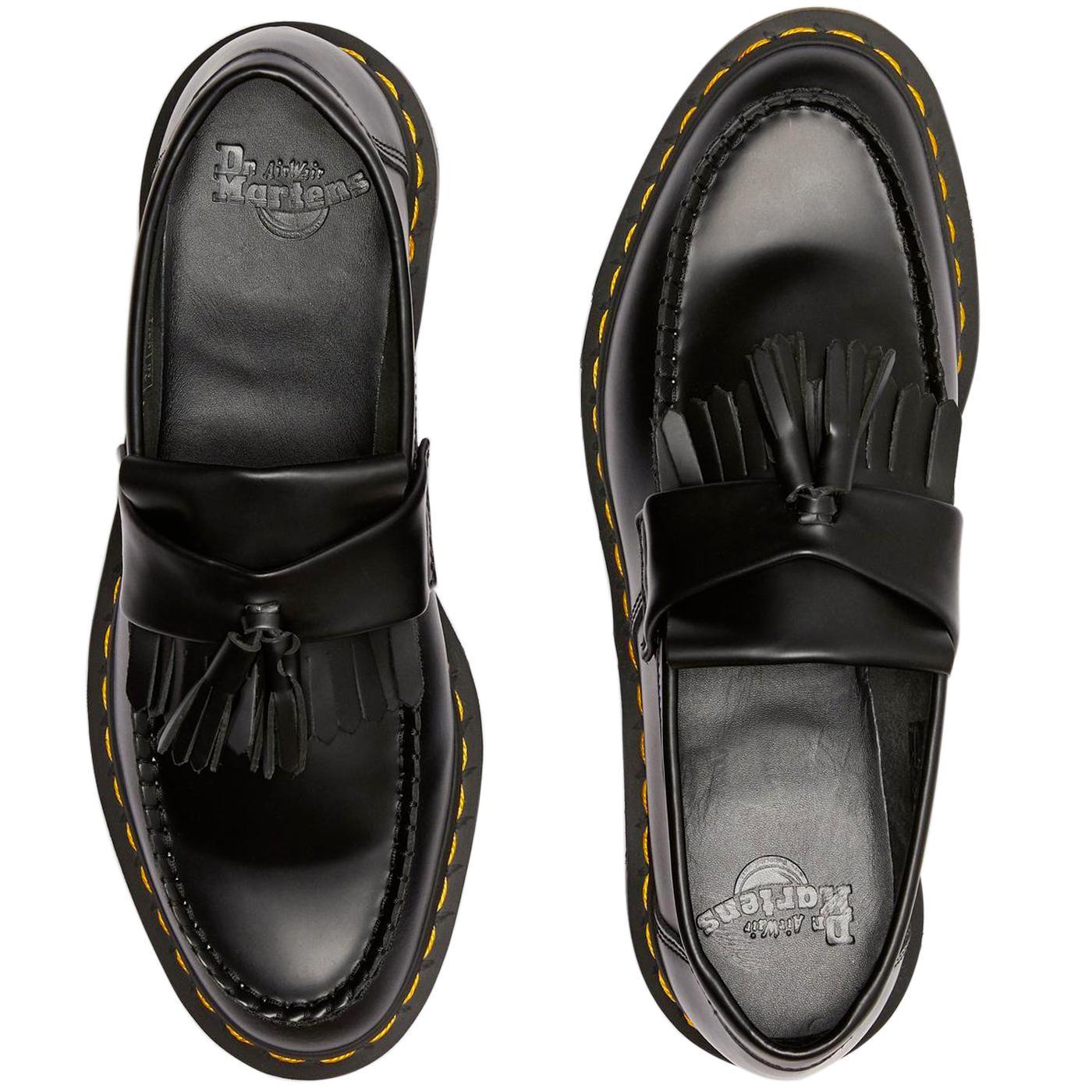 dr martens adrian tassel loafers in black
