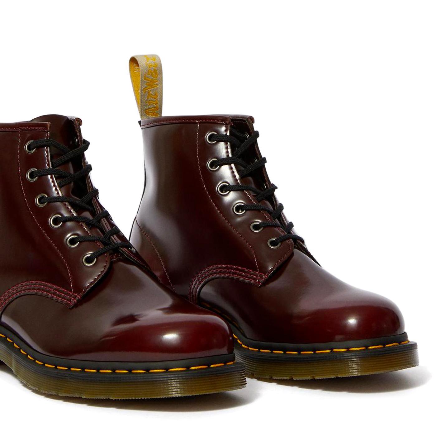DR MARTENS Vegan 101 Men's Cherry Red Boots