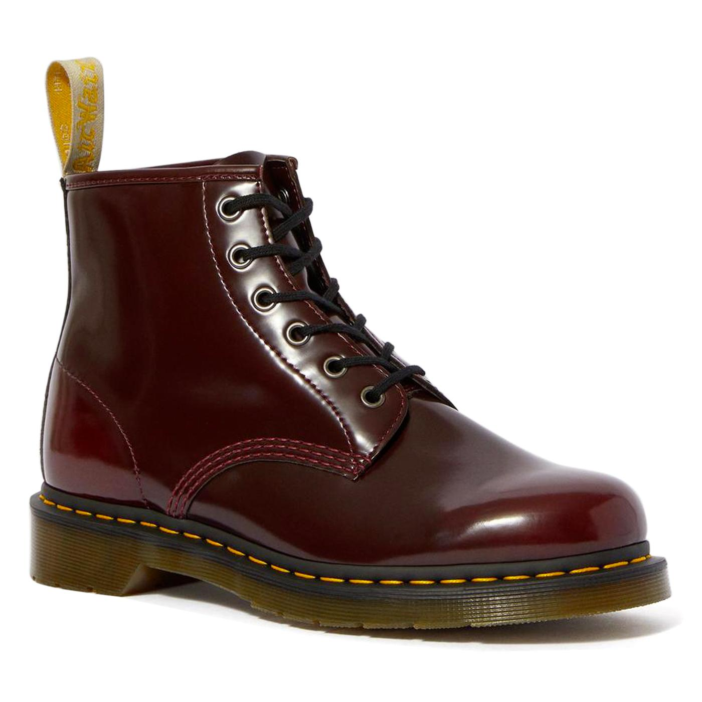 Vegan 101 DR MARTENS Men's Cherry Red Boots