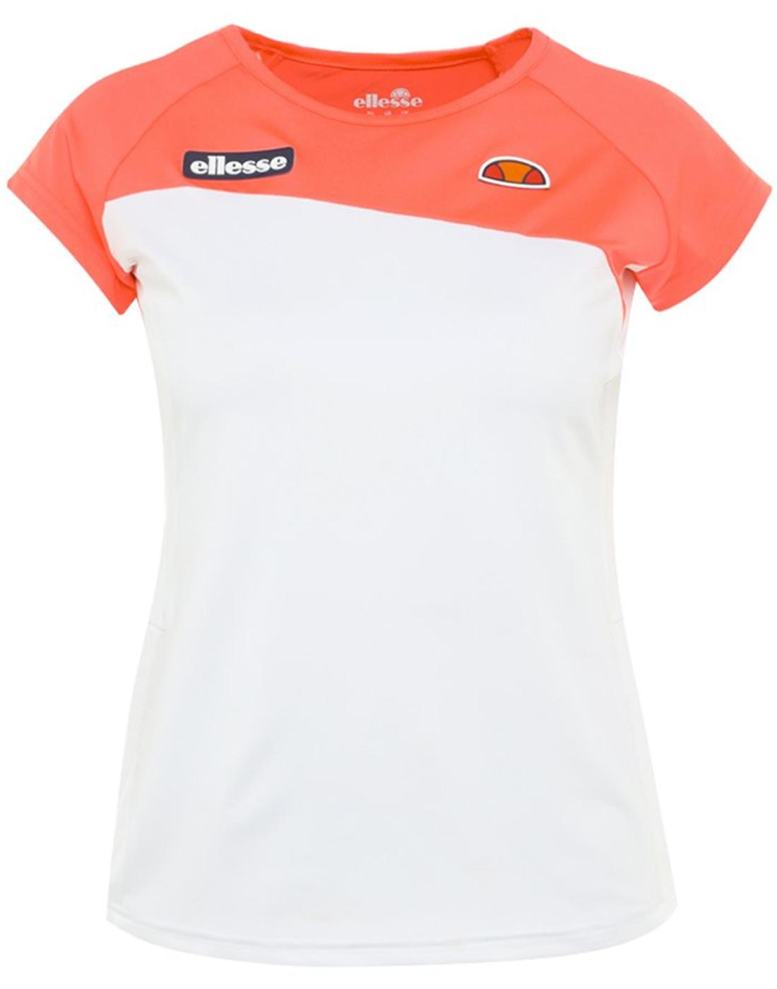 Admiral ELLESSE Womens Retro 70s Fitted Tennis Tee
