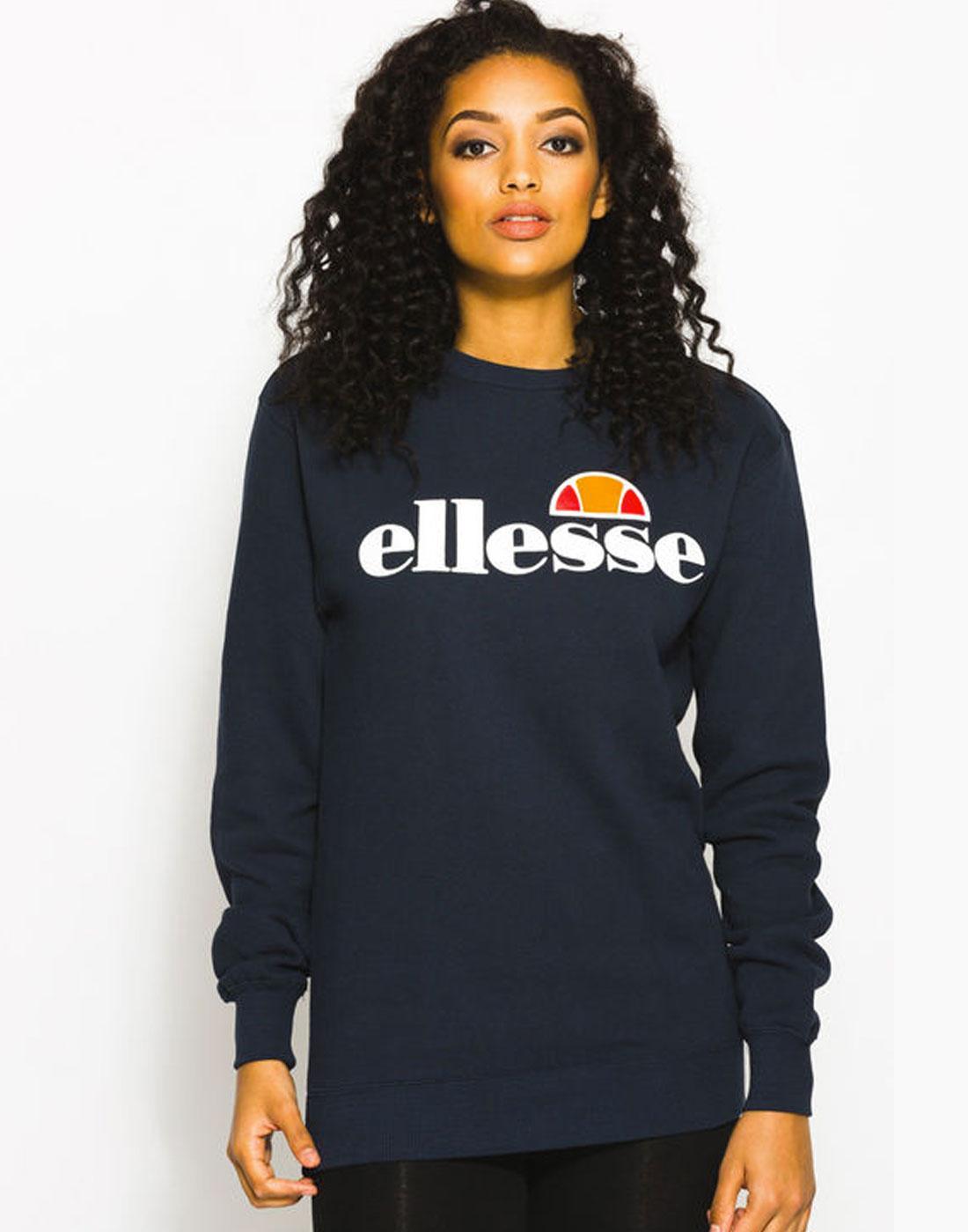 ellesse sweater grey hoodie navy navy blue