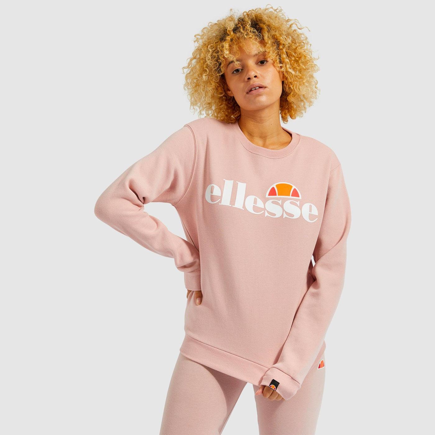 Agata ELLESSE Women's Retro 90s Sweatshirt (Pink)