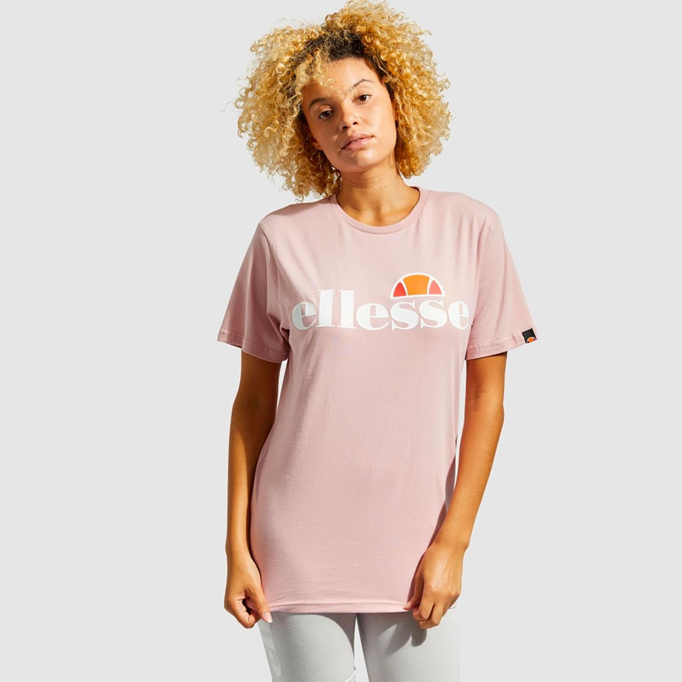 Albany ELLESSE Women's Retro Relaxed Fit Tee PINK