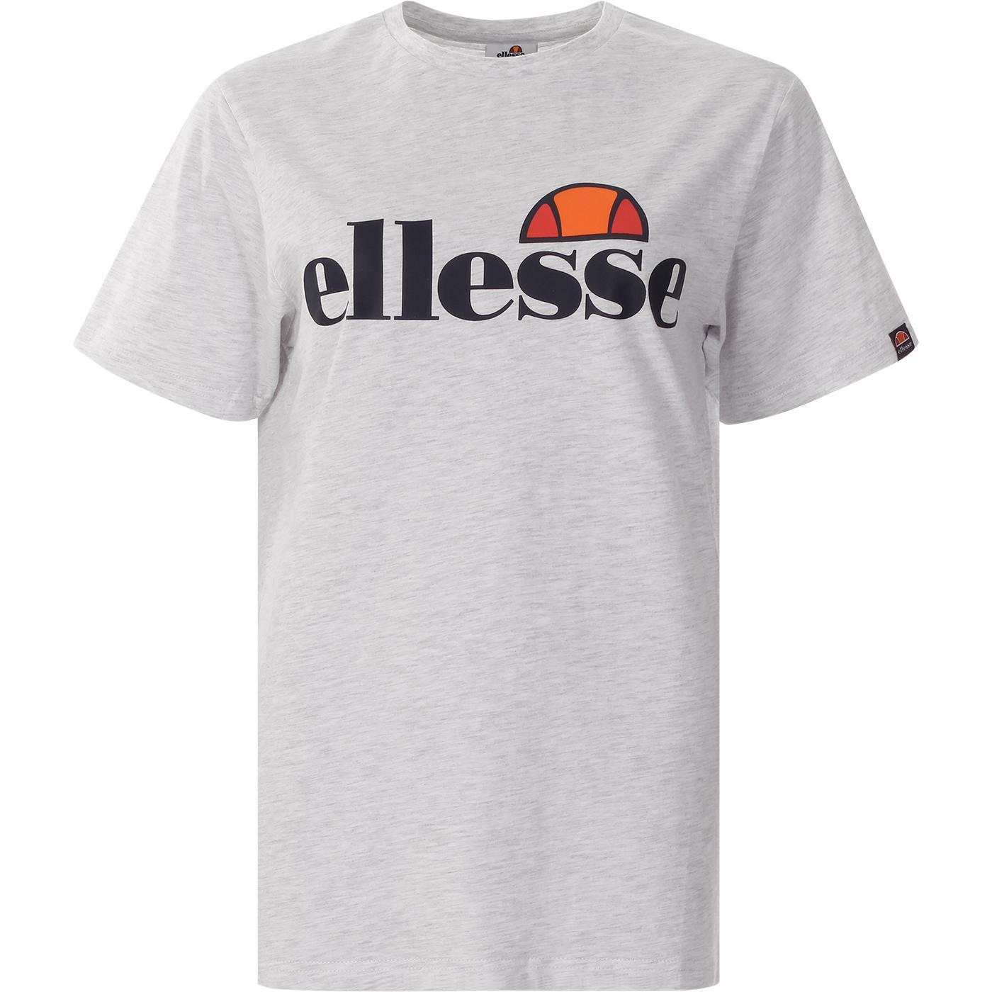 Albany ELLESSE Retro Logo T-Shirt WHITE MARL