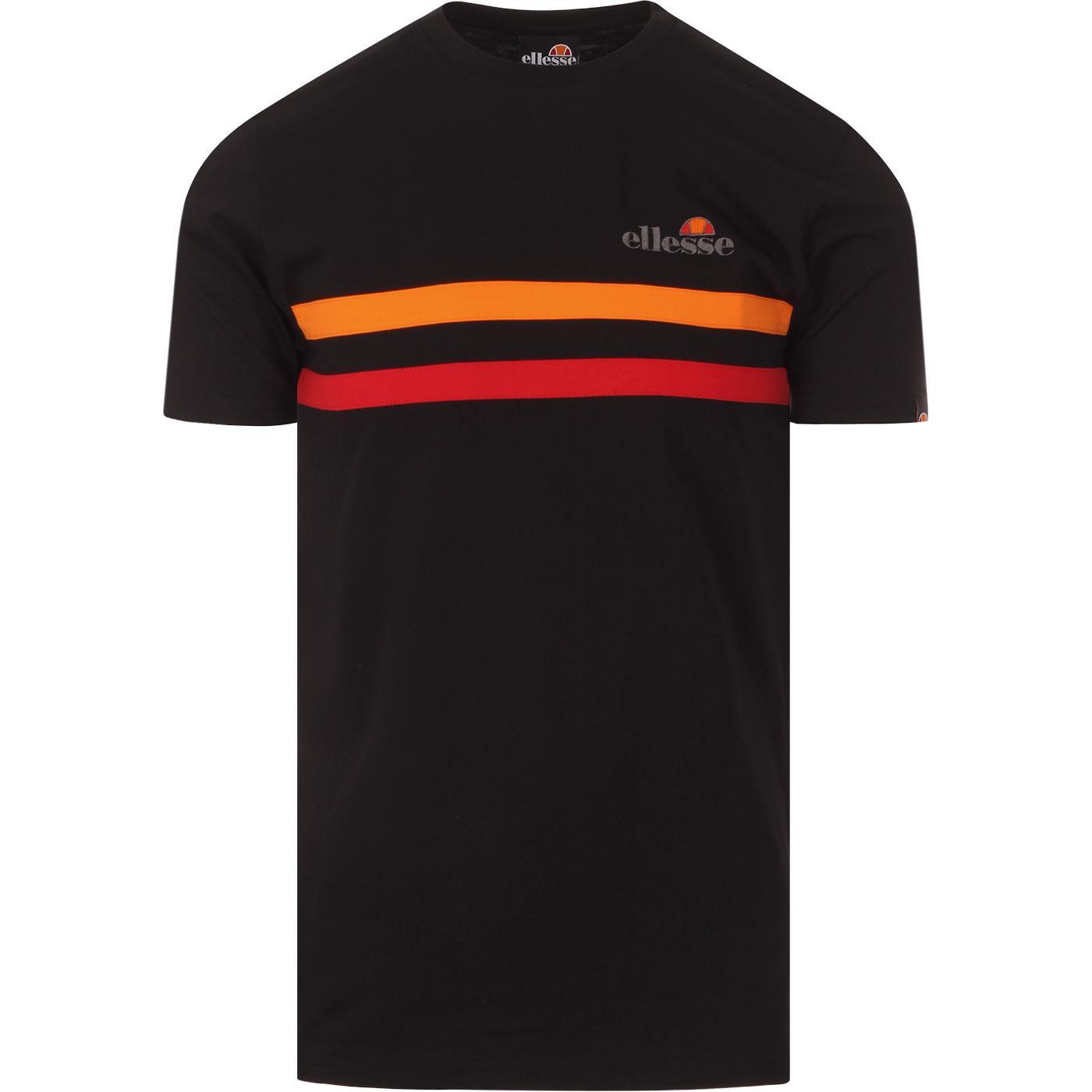 Aprosio ELLESSE Retro 70s Chest Stripe Tee (Black)