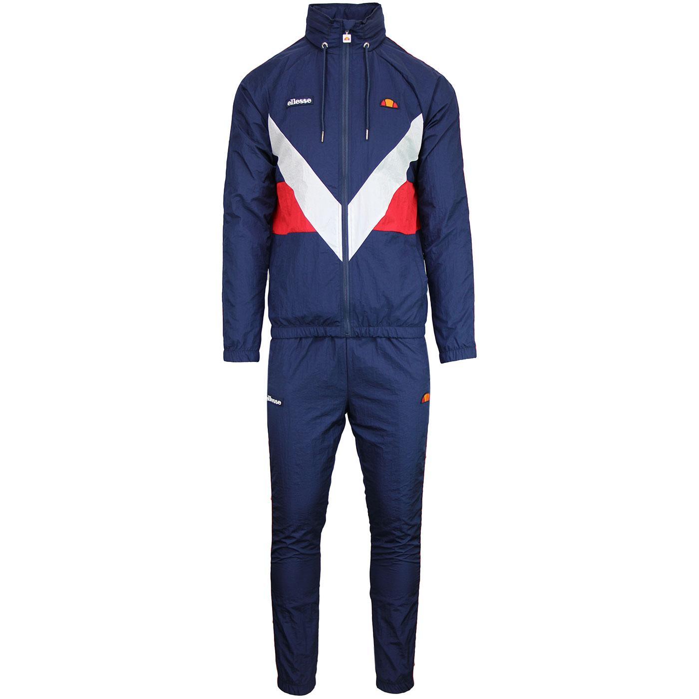 Gerano Avico ELLESSE Retro 80s Shell Suit in Navy
