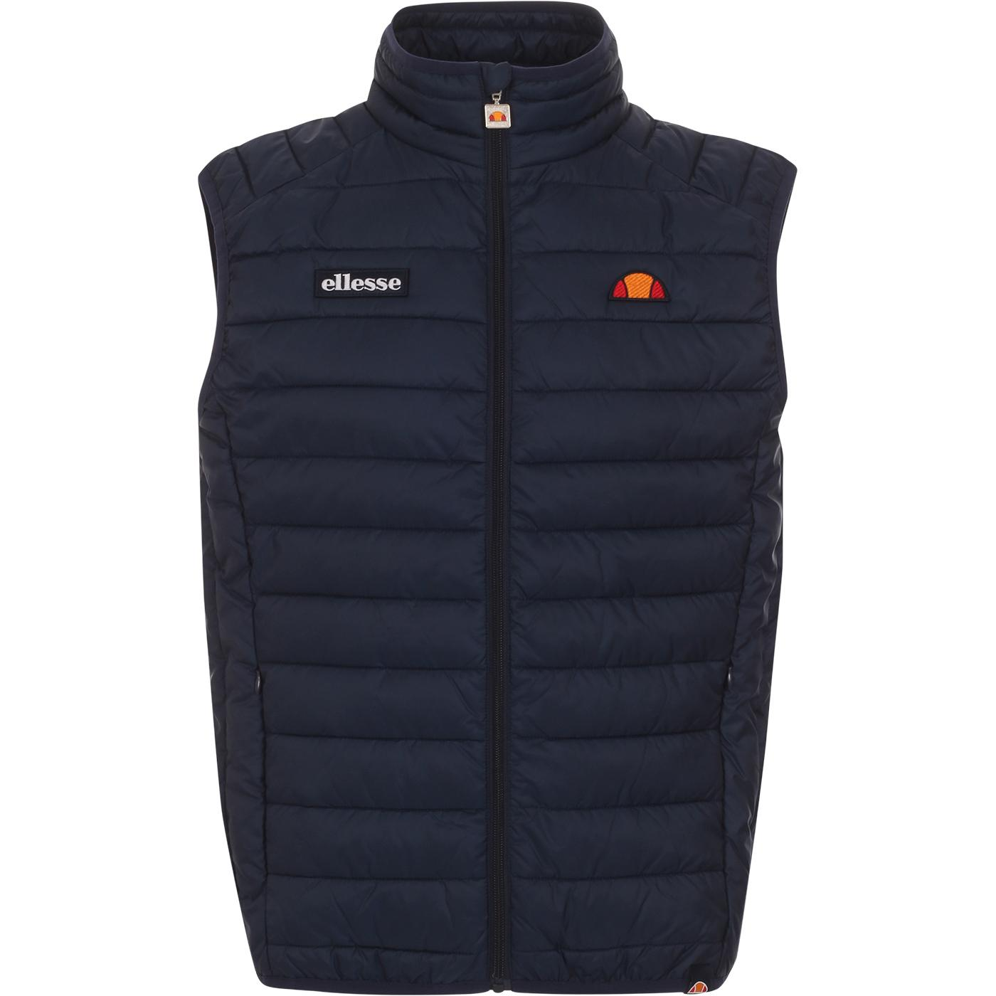 Bardy ELLESSE Retro 90s Quilted Gilet (Navy)