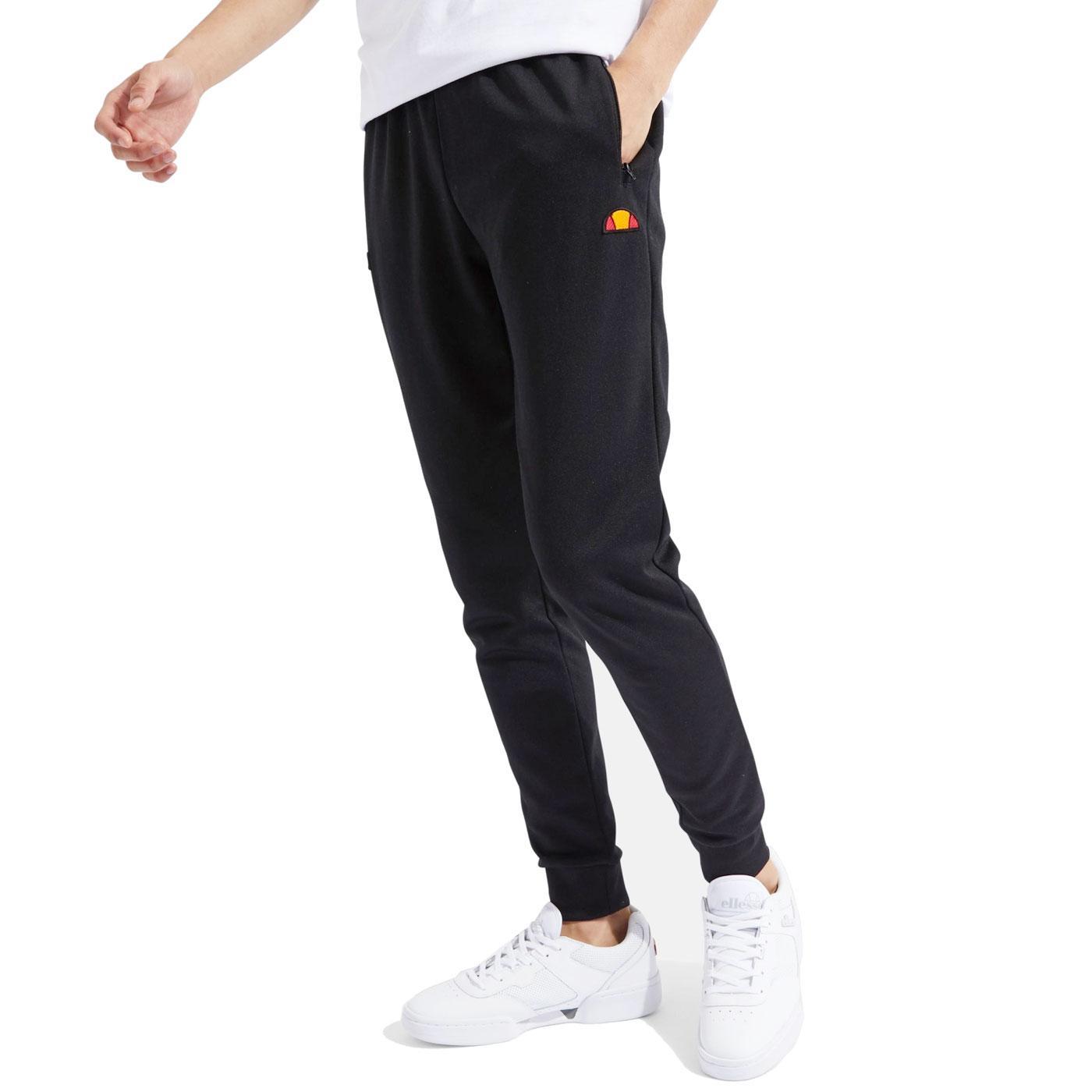 Bertoni ELLESSE Mens Retro Track Pants (Black)