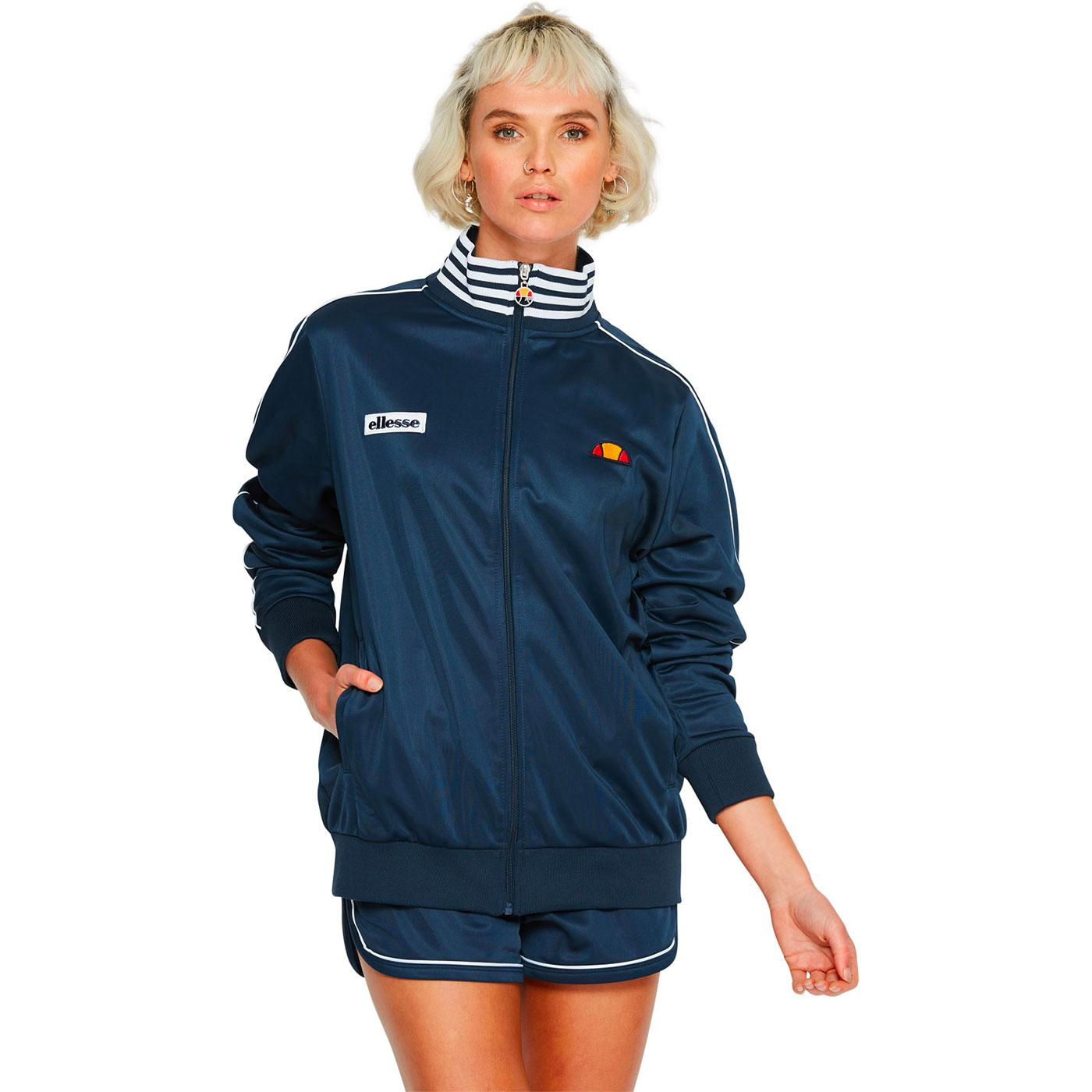 Billi ELLESSE Women's Retro 1980s Track Top (Navy)
