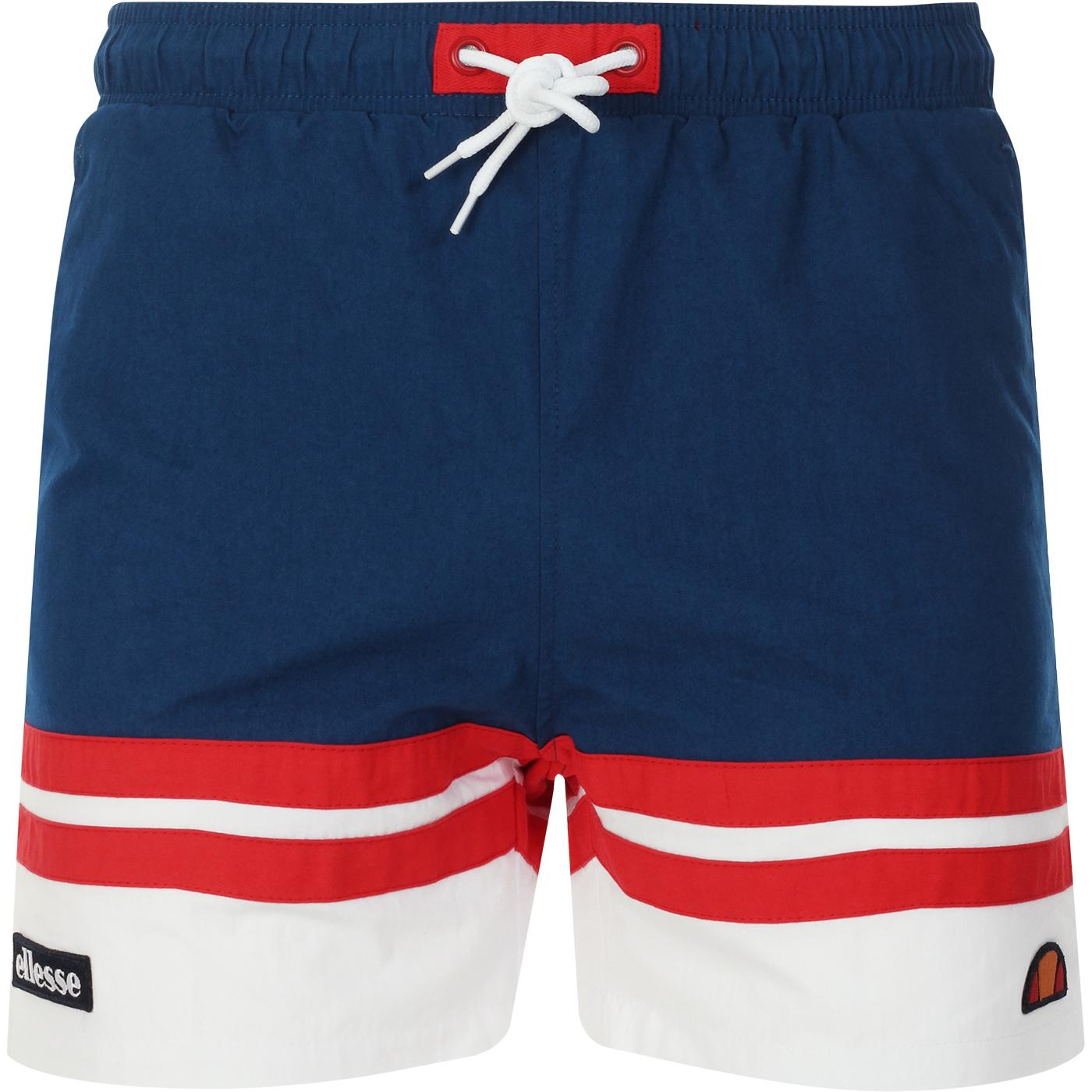 Cefalu ELLESSE Men's Retro Swim Shorts Blue