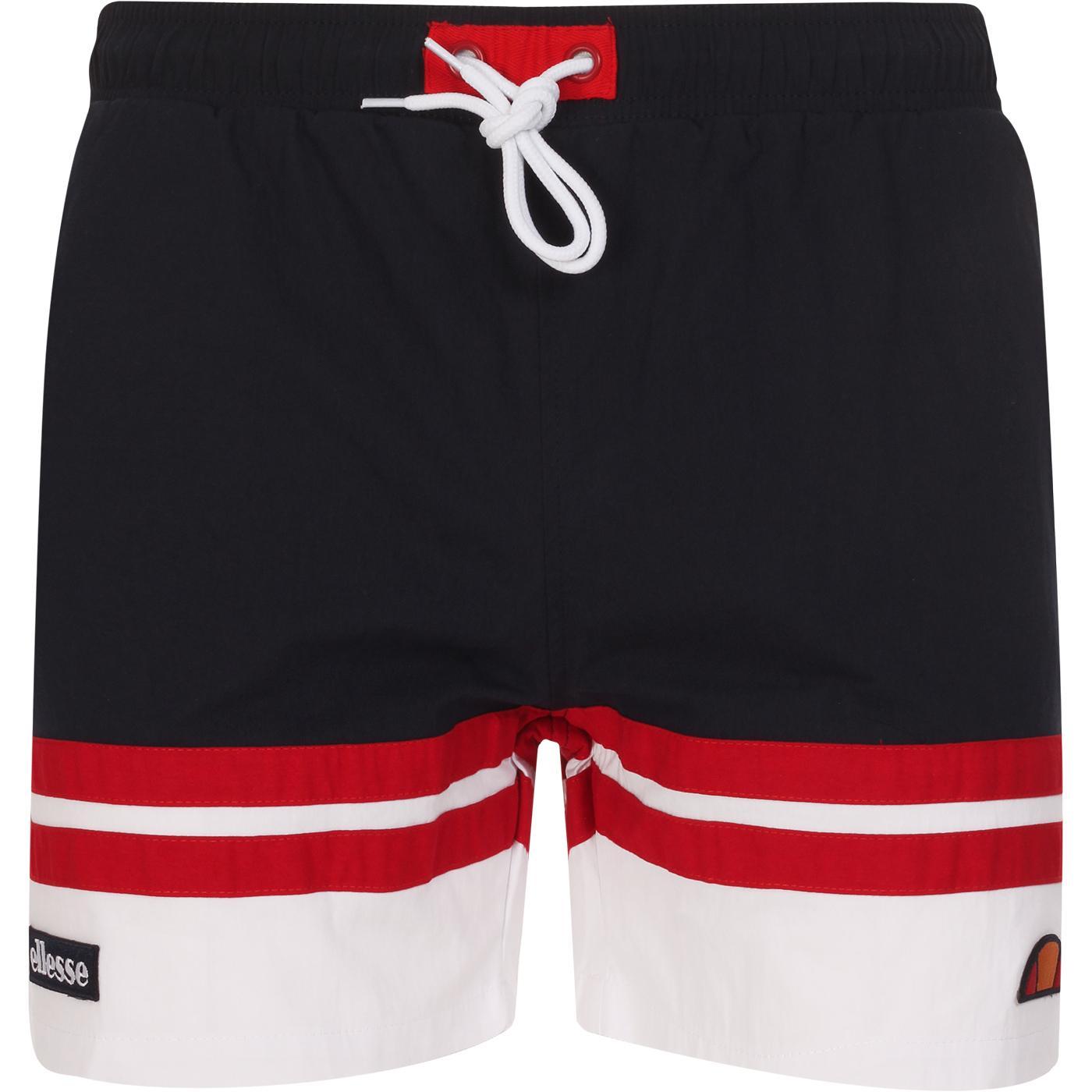 Cefalu ELLESSE Men's Retro Swim Shorts (N/W/R)