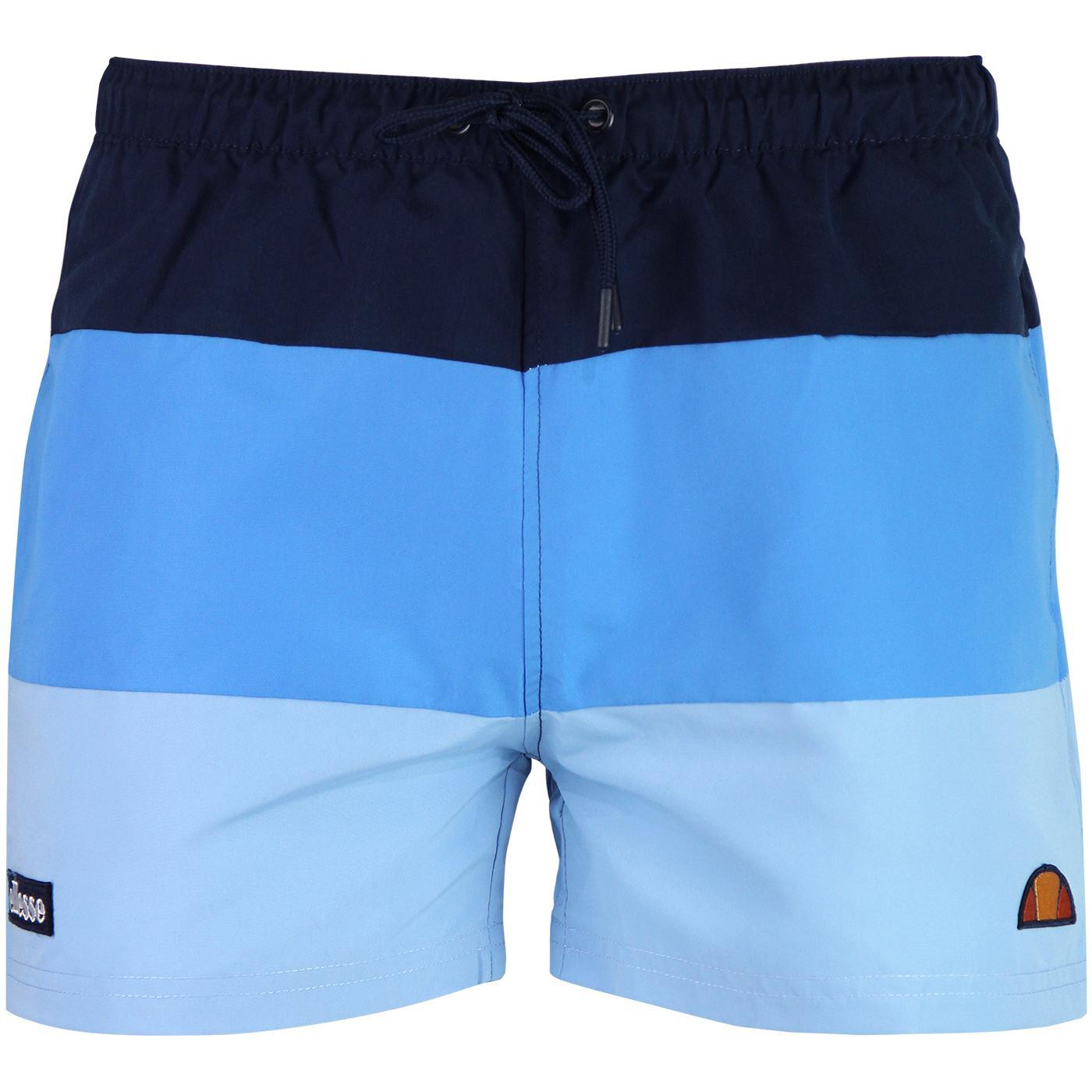 Cielo ELLESSE Retro 80s Colour Block Shorts BLUE