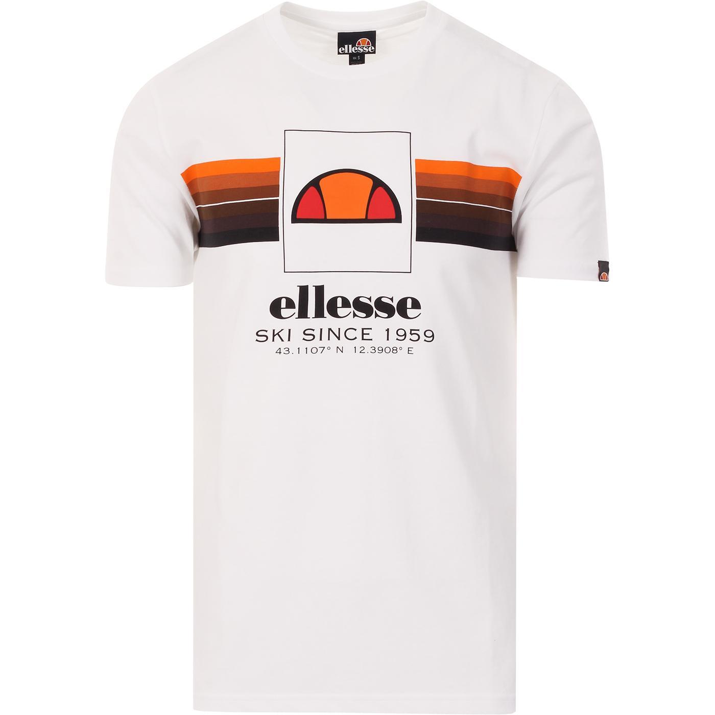 Colo ELLESSE Retro 70s Chest Stripe Tee (White)