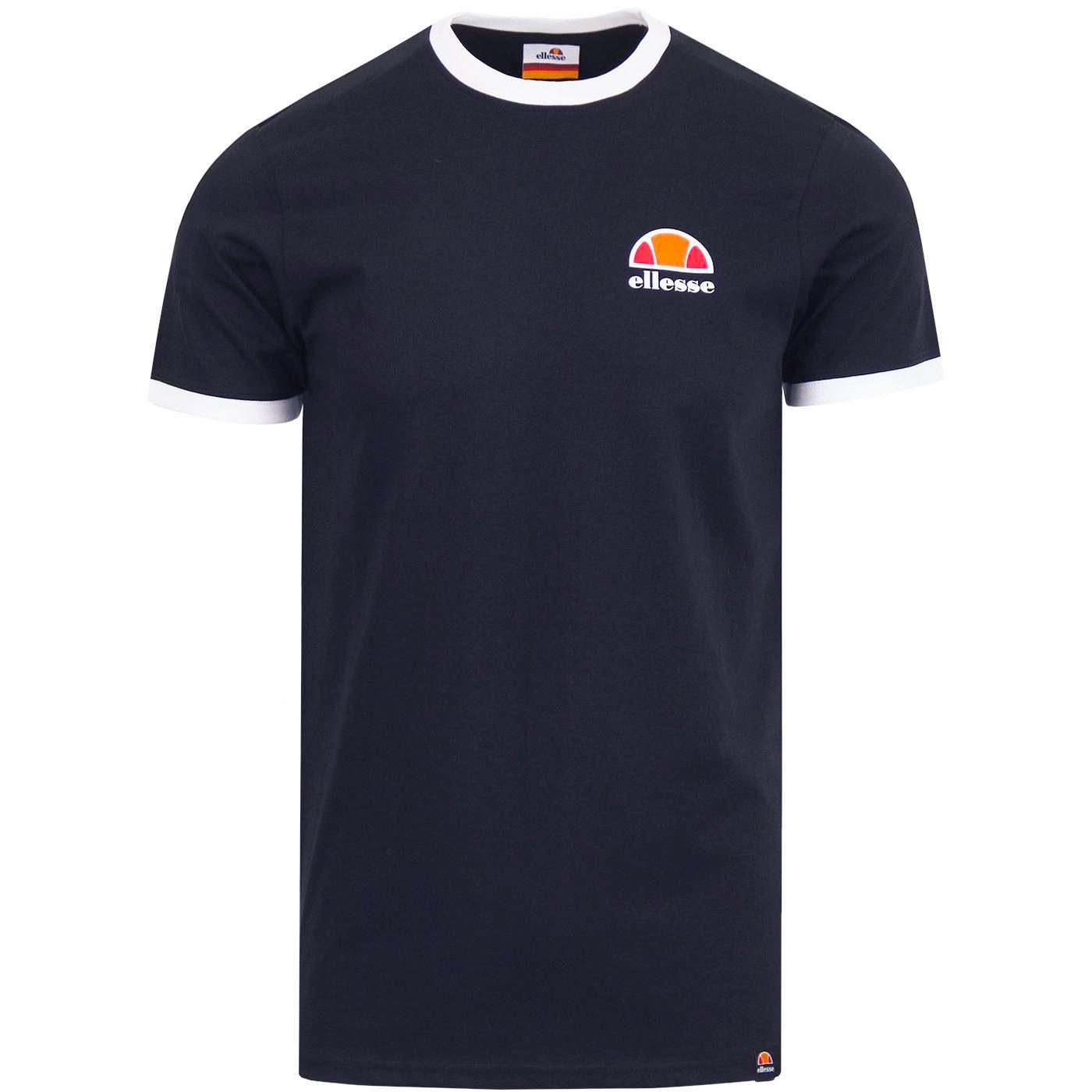 Cubist ELLESSE Retro Classic Logo Ringer T-Shirt N