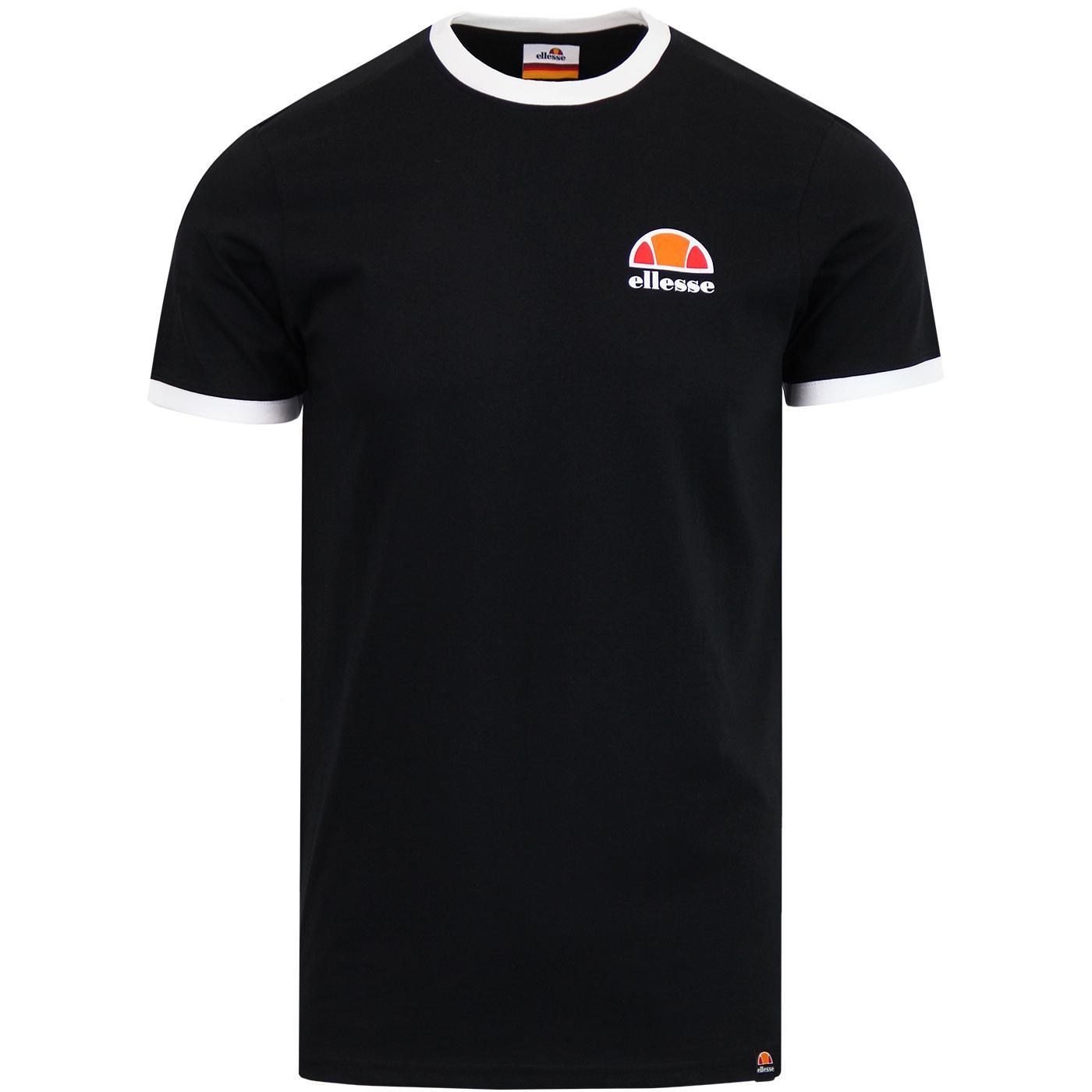 Cubist ELLESSE Retro Classic Logo Ringer T-Shirt B