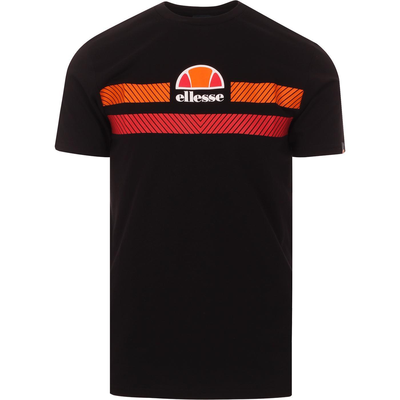 Glisenta ELLESSE 80s Chevron Stripe Logo Tee BLACK