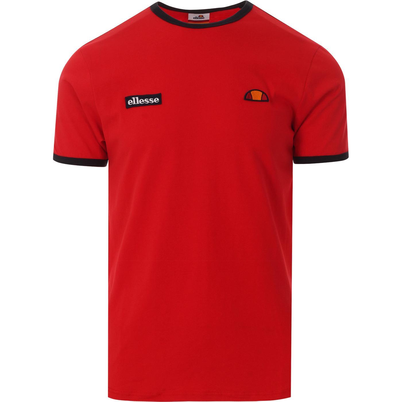 Fedora ELLESSE Men's Classic Retro Logo Tee (Red)