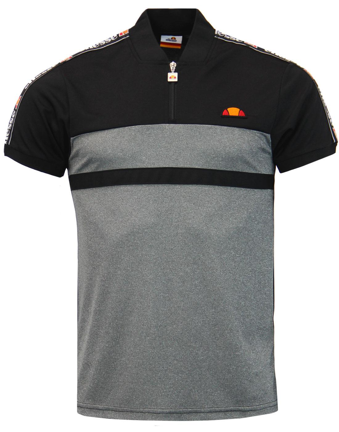 Gatlin ELLESSE Retro Sports Zip T-Shirt in Black