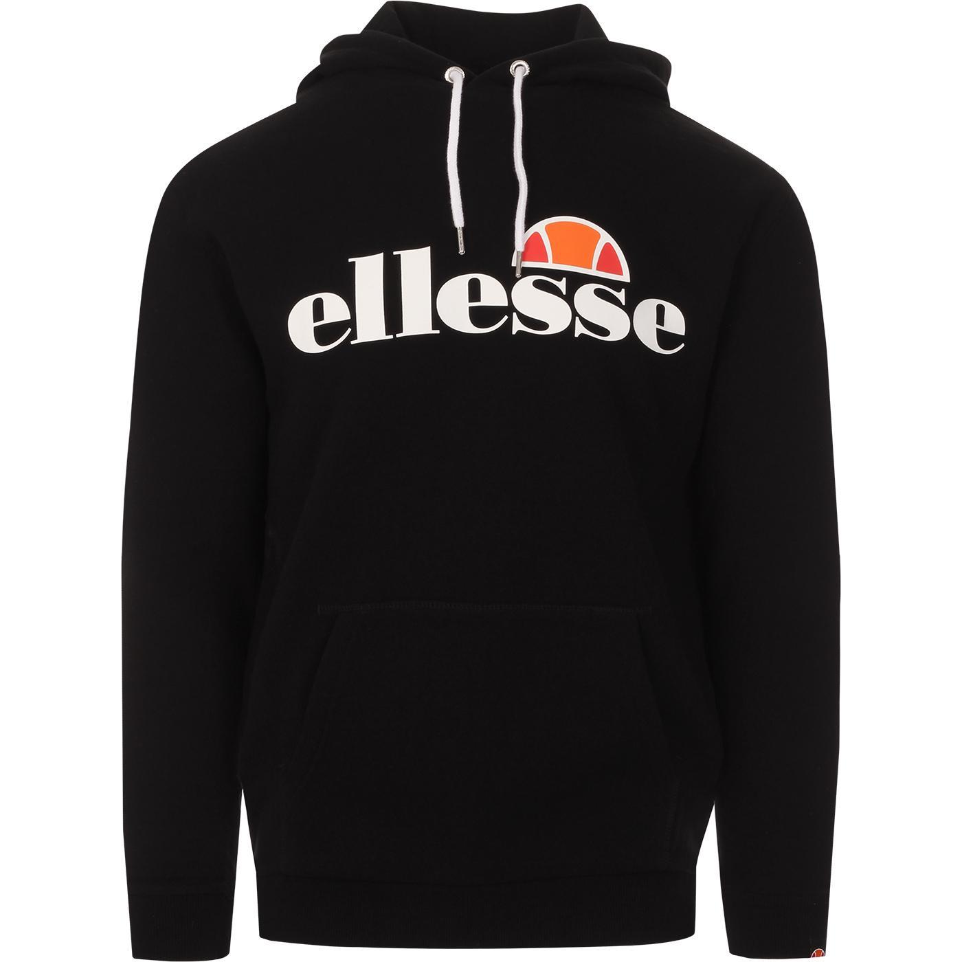Gottero ELLESSE Retro OH Logo Hoodie (Black)