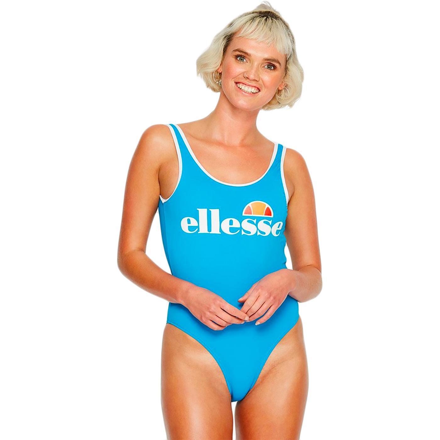 Lilly ELLESSE Retro 80s Beach Sport Swim Suit BLUE