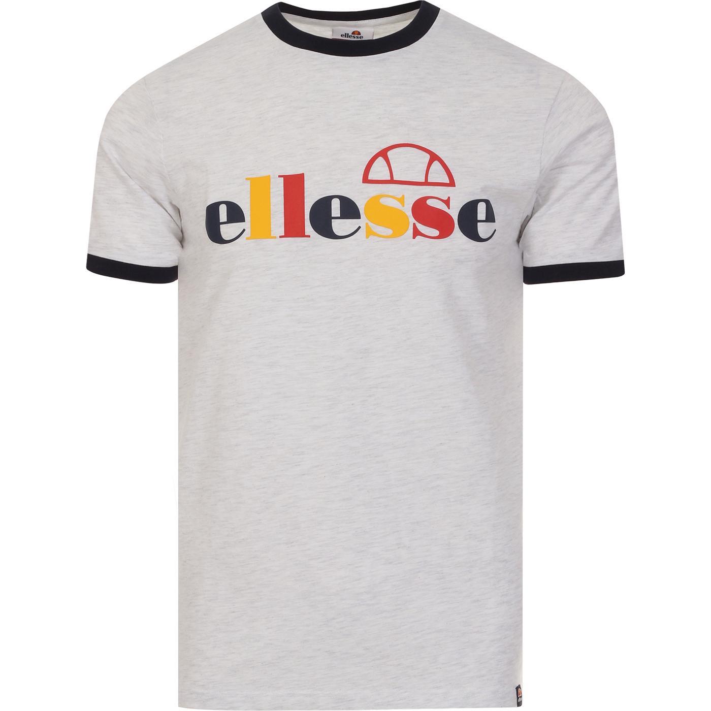 Limora ELLESSE Retro 90s Pop Logo Ringer Tee WHITE