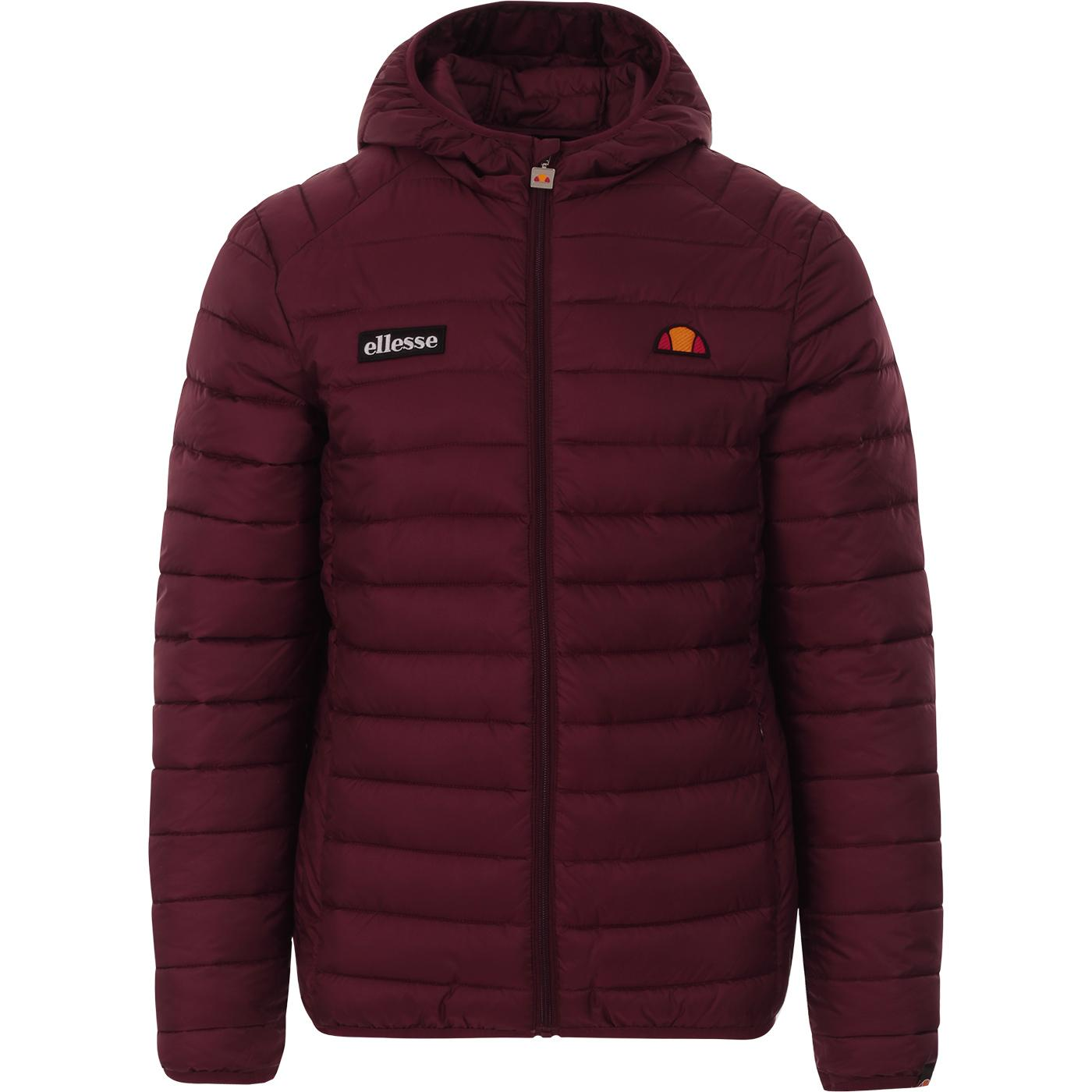 Lombardy ELLESSE Retro Quilted Ski Jacket BURGUNDY