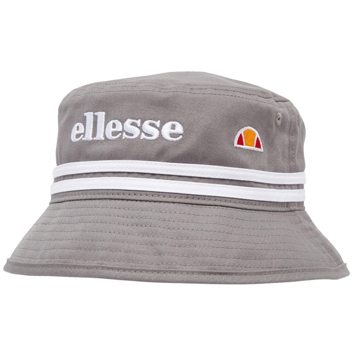 Lorenzo ELLESSE Retro 90s Striped Bucket Hat Grey