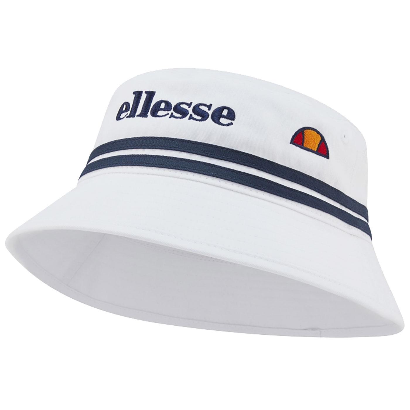 Lorenzo ELLESSE Retro 90s Striped Bucket Hat WHITE