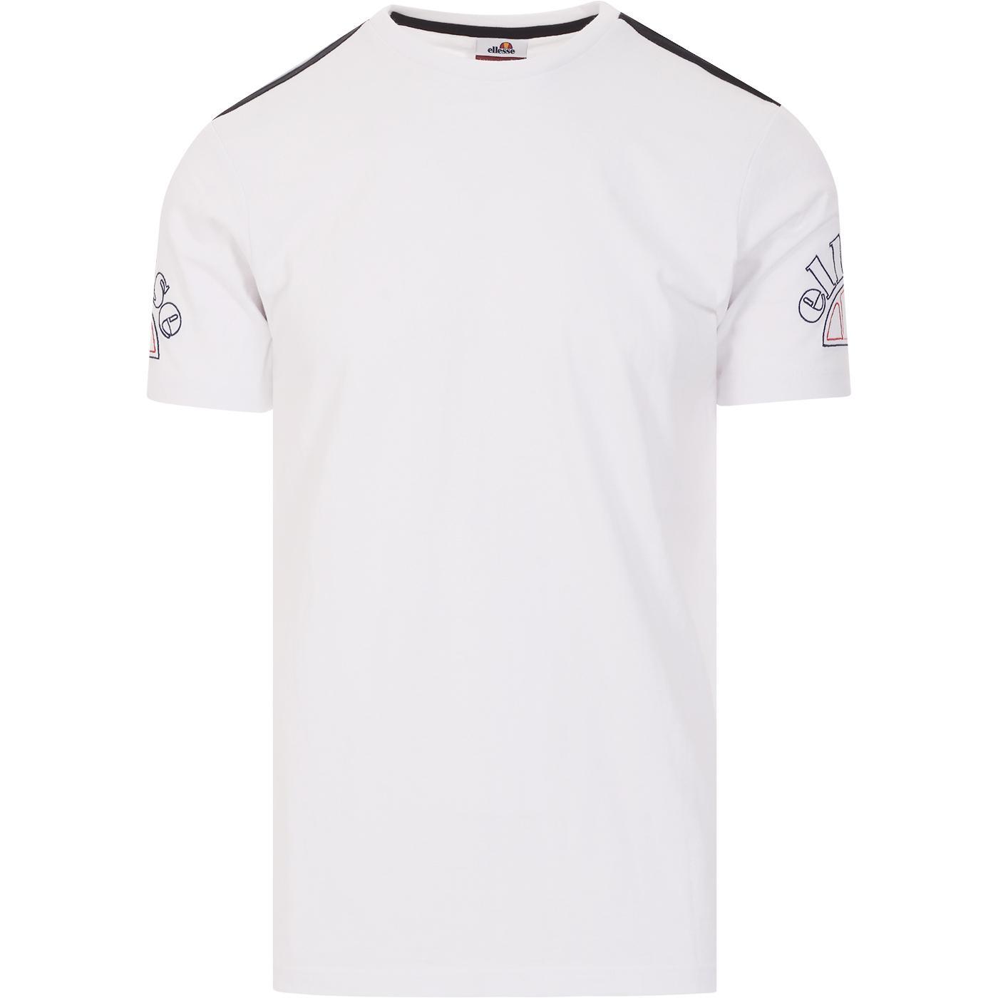 Mauro ELLESSE Embroidered Sleeve Logo Tee (White)