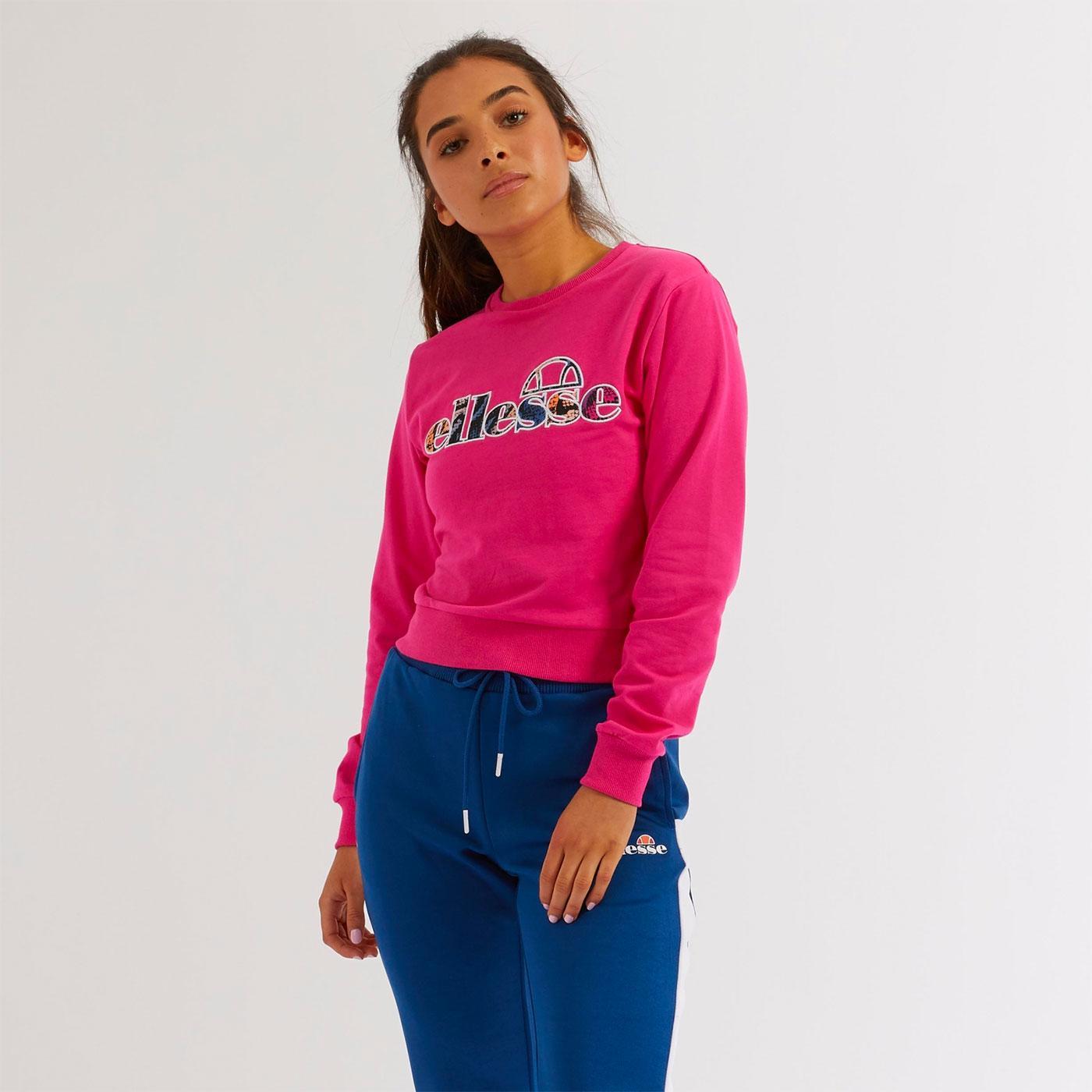Merc ELLESSE Colourful Logo Retro Sweatshirt PINK