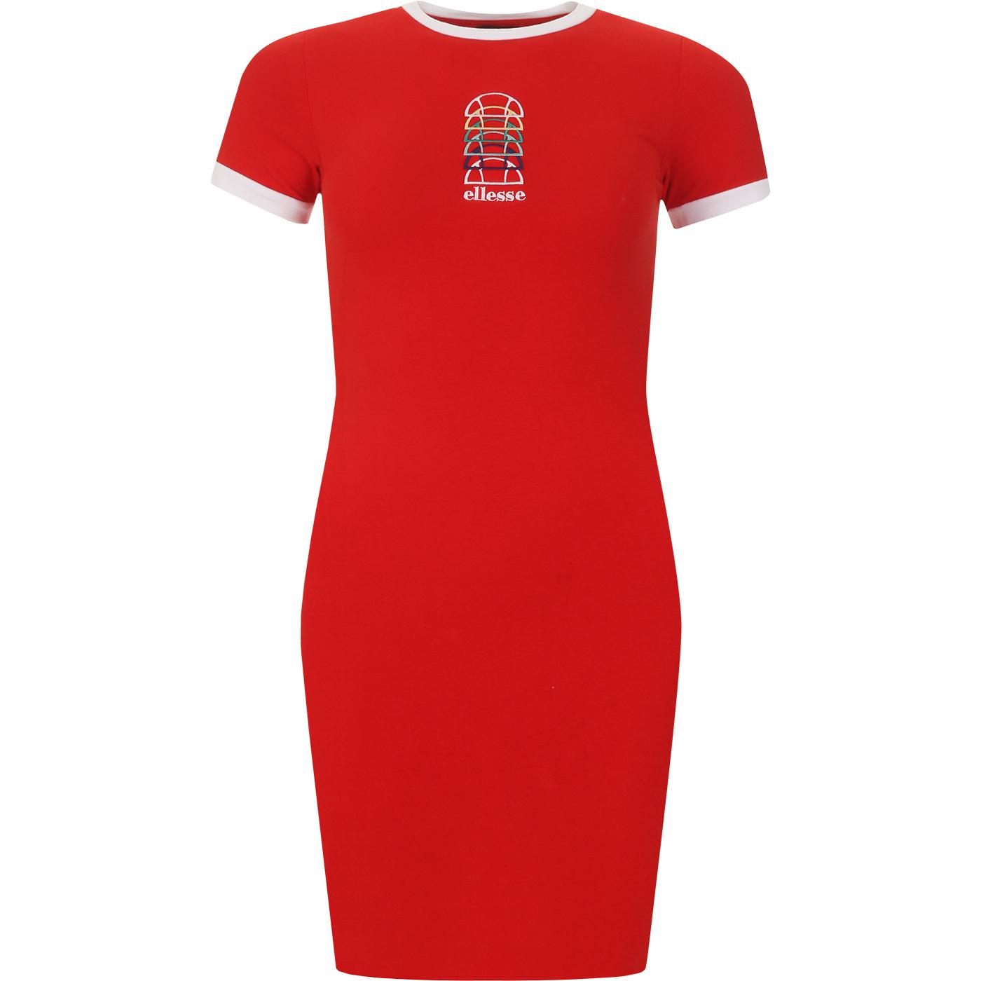 Ninetta ELLESSE Retro Slim Ringer Trim Dress (Red)