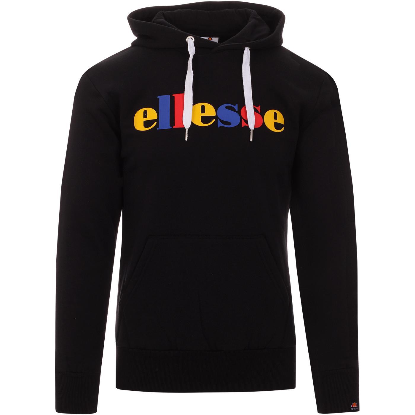 Norare ELLESSE Pop Colour Retro Logo Hoodie BLACK
