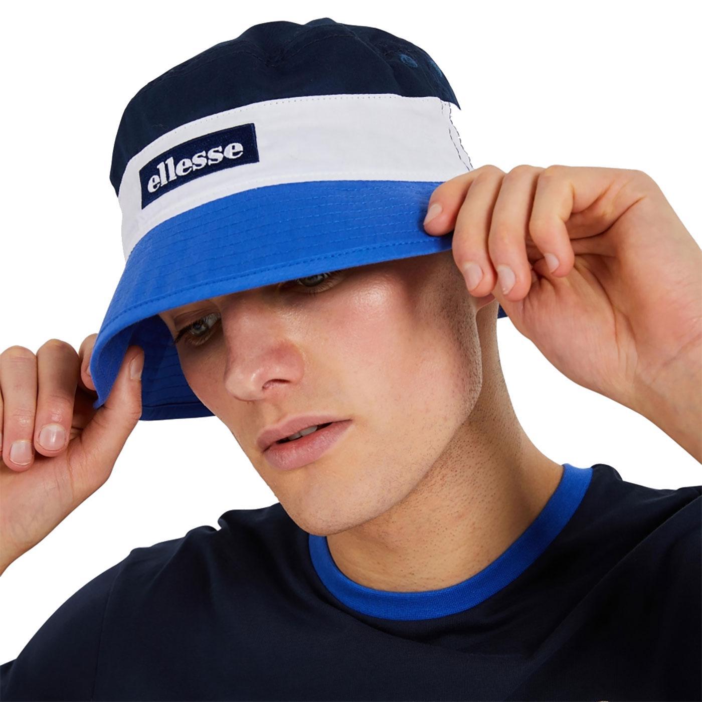 Onzio ELLESSE Retro Colour Block Bucket Hat BLUE