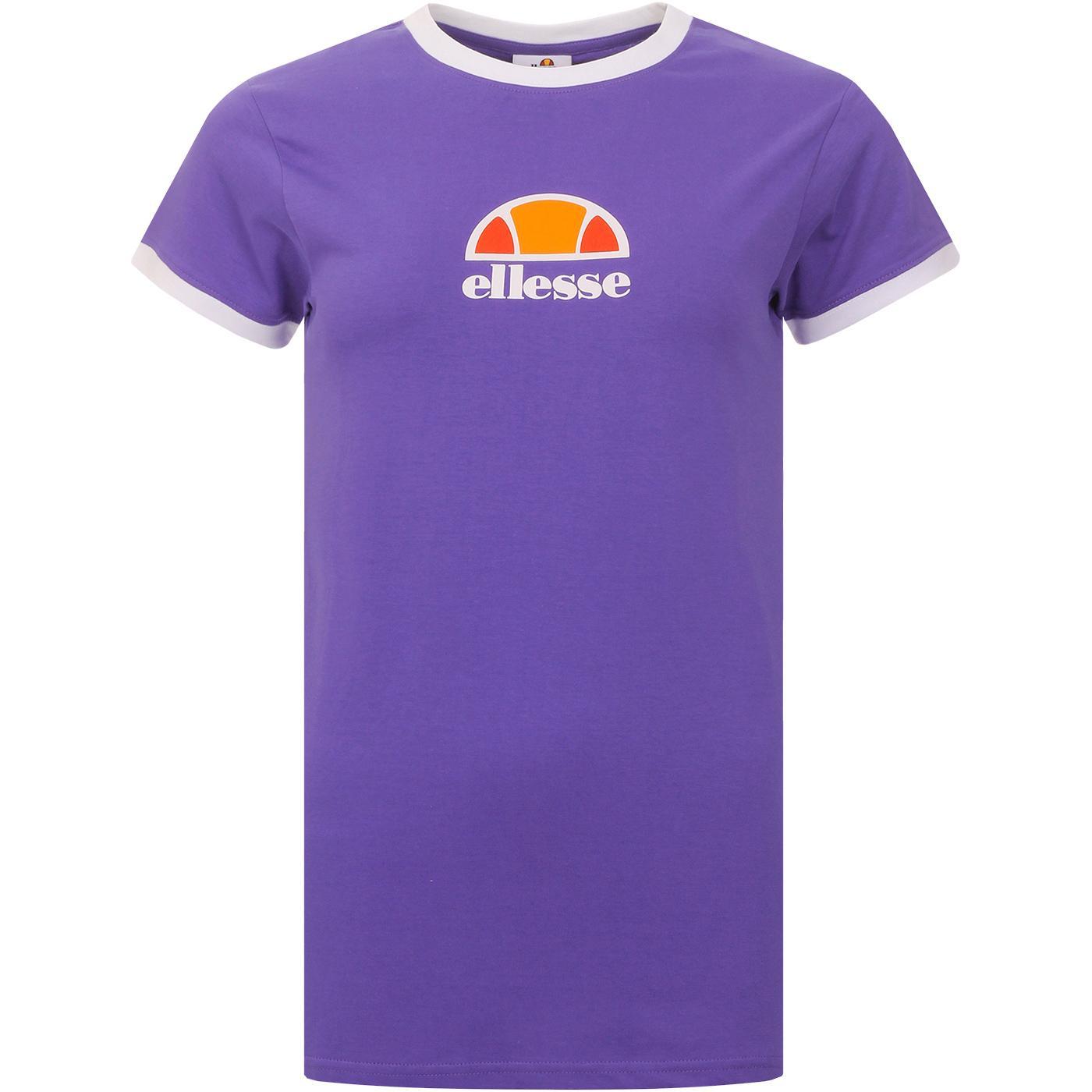 Orlanda ELLESSE Women's Retro Ringer Tee (Purple)