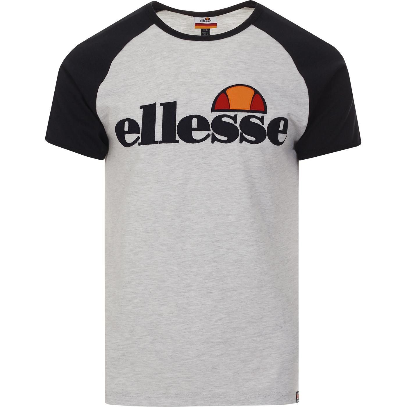 Piave ELLESSE Retro Raglan Baseball Tee WHITE MARL