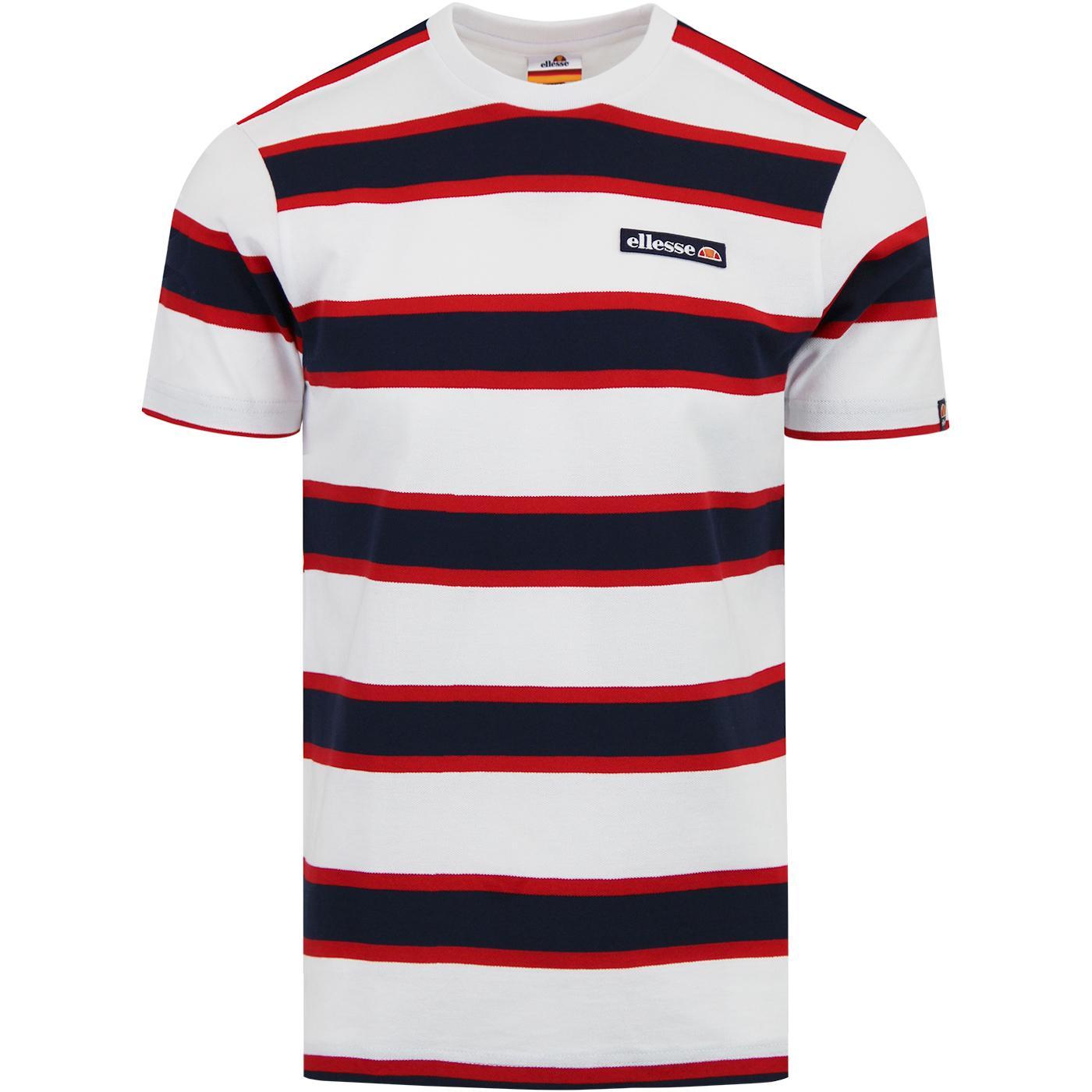 Pluto ELLESSE Retro Bold Stripe Pique T-Shirt W