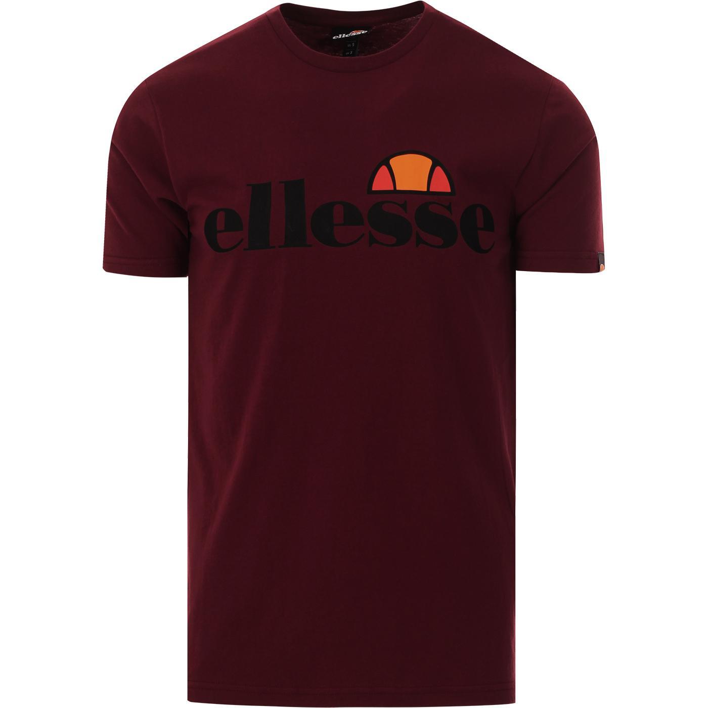 Prado ELLESSE Retro 80s Logo Crew Tee (Burgundy)