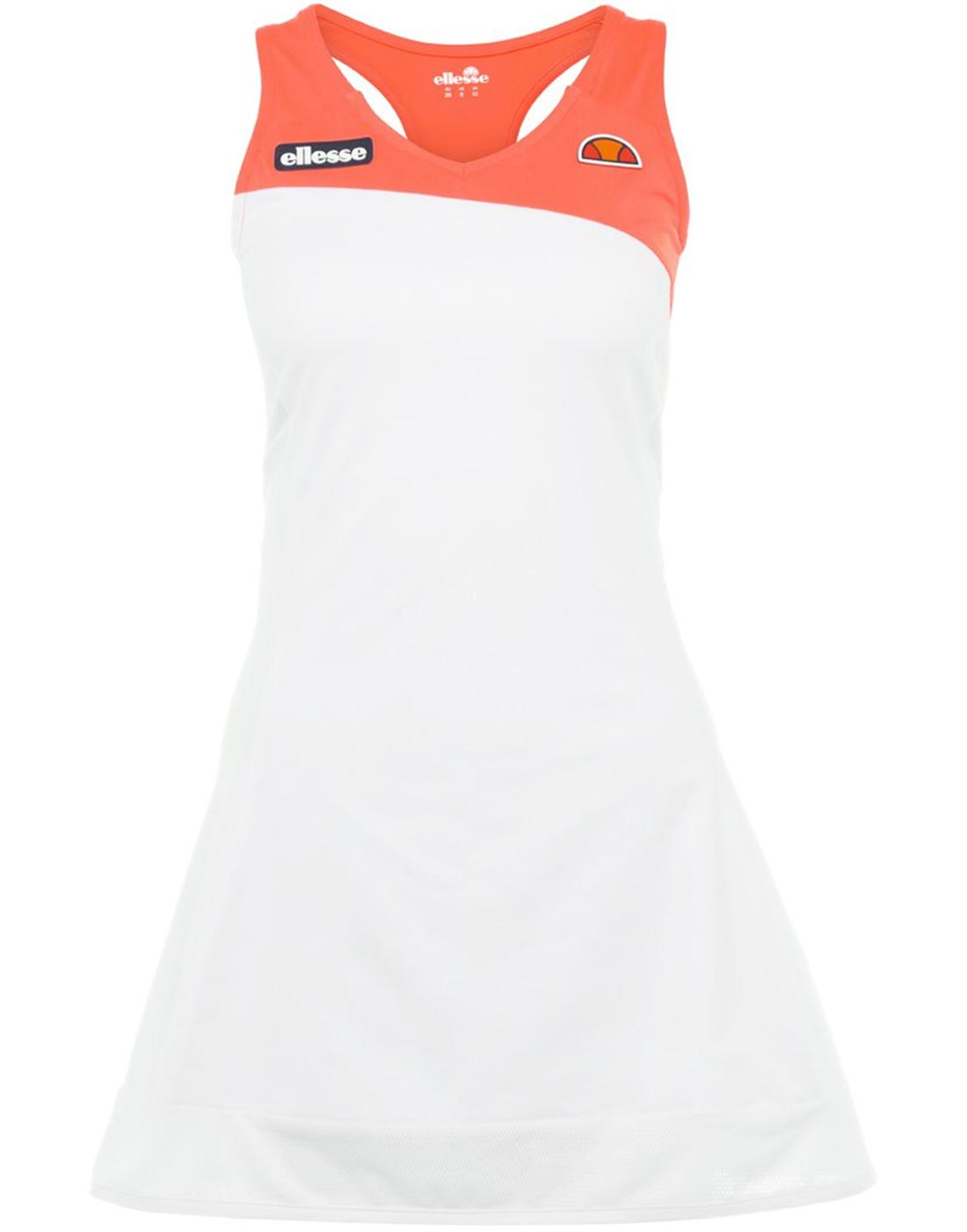 Pearl ELLESSE Retro 70s Mini Tennis Dress in White