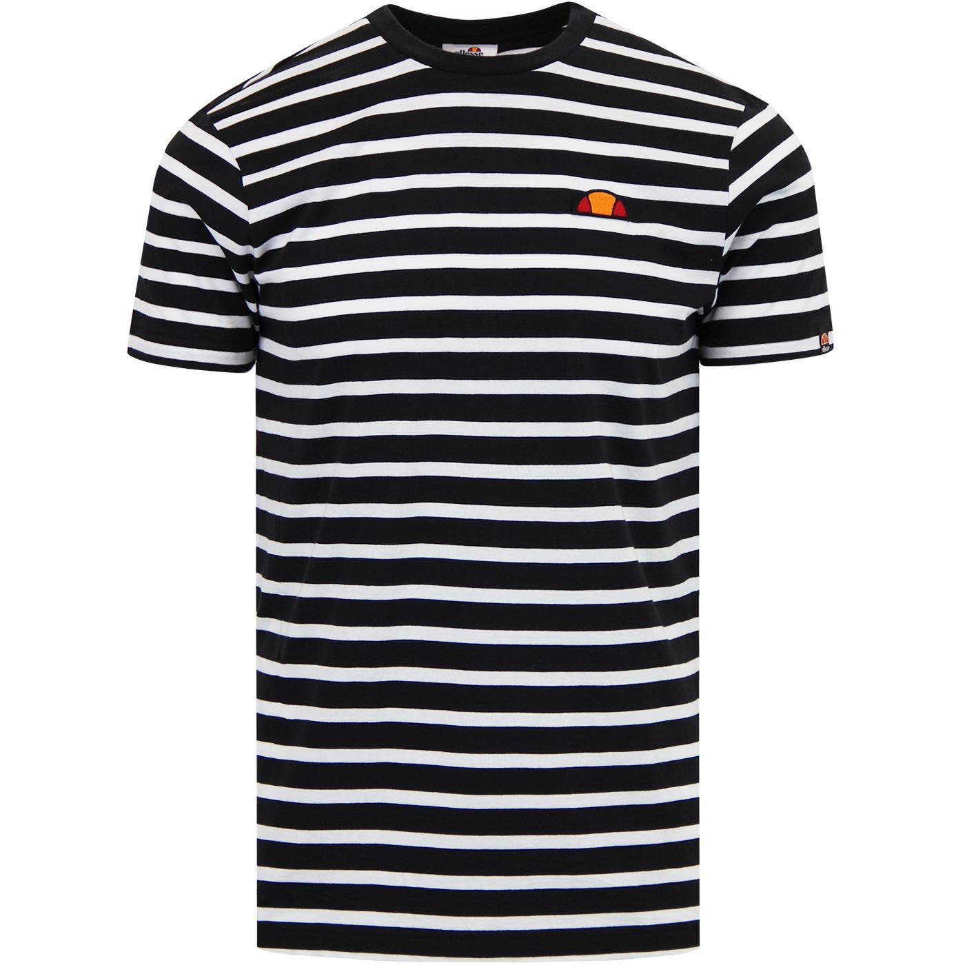 Sailo ELLESSE Mens Retro Breton Stripe T-Shirt B