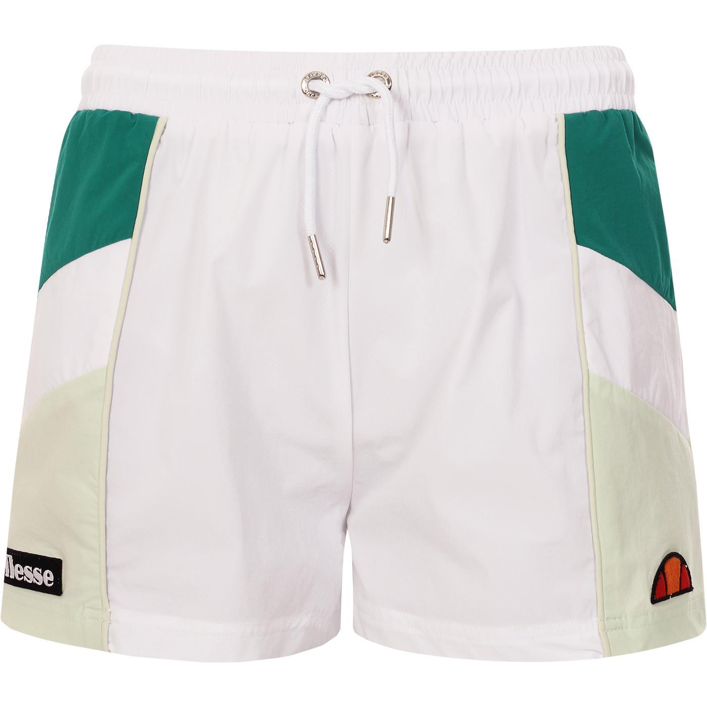 ELLESSE Women's Retro 80s Stripe Shorts (White)