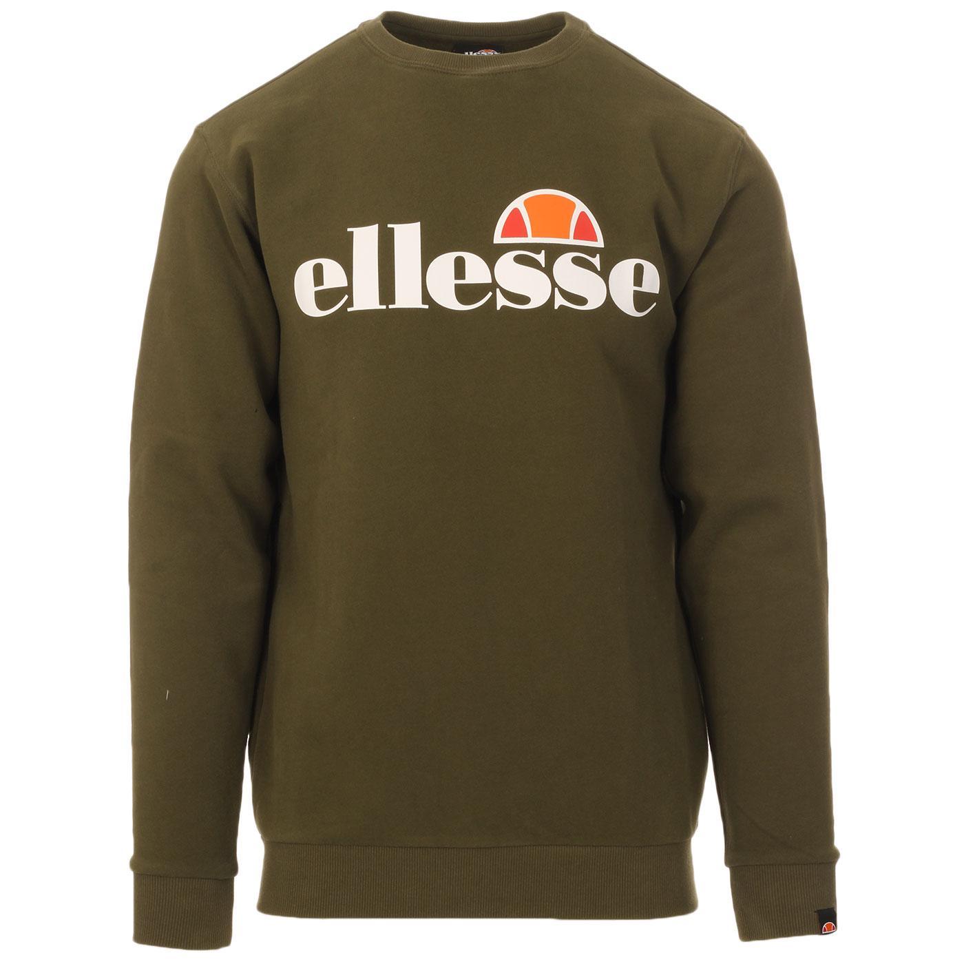 Succiso ELLESSE Retro 80s Logo Sweatshirt (Khaki)